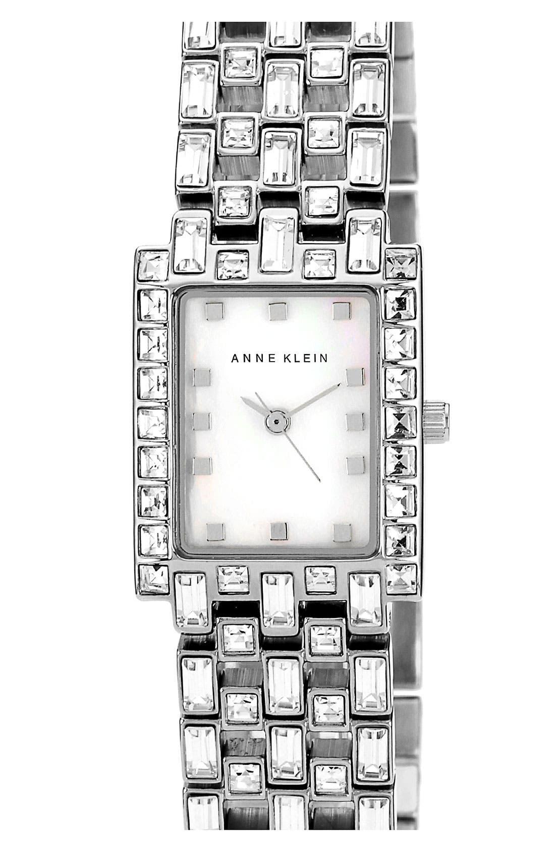 Alternate Image 1 Selected - Anne Klein Rectanglular Bracelet Watch