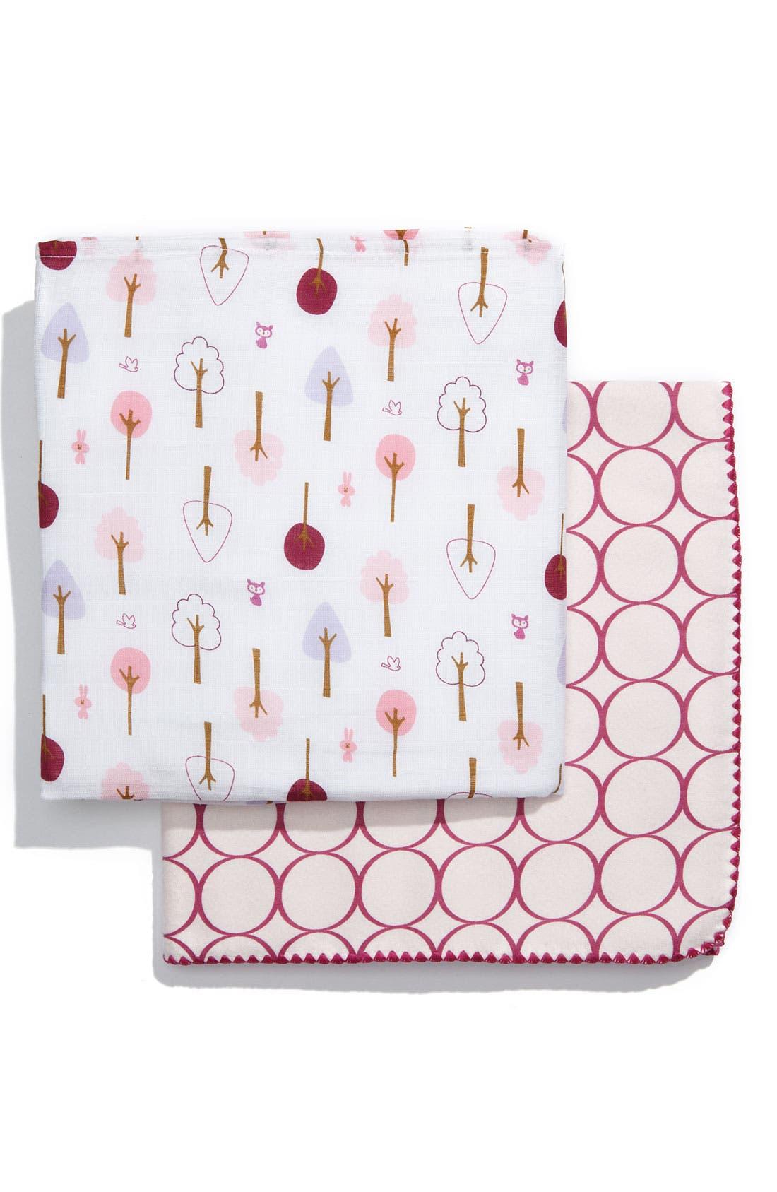 Alternate Image 1 Selected - Swaddle Designs Pattern Blanket (Set of 2)