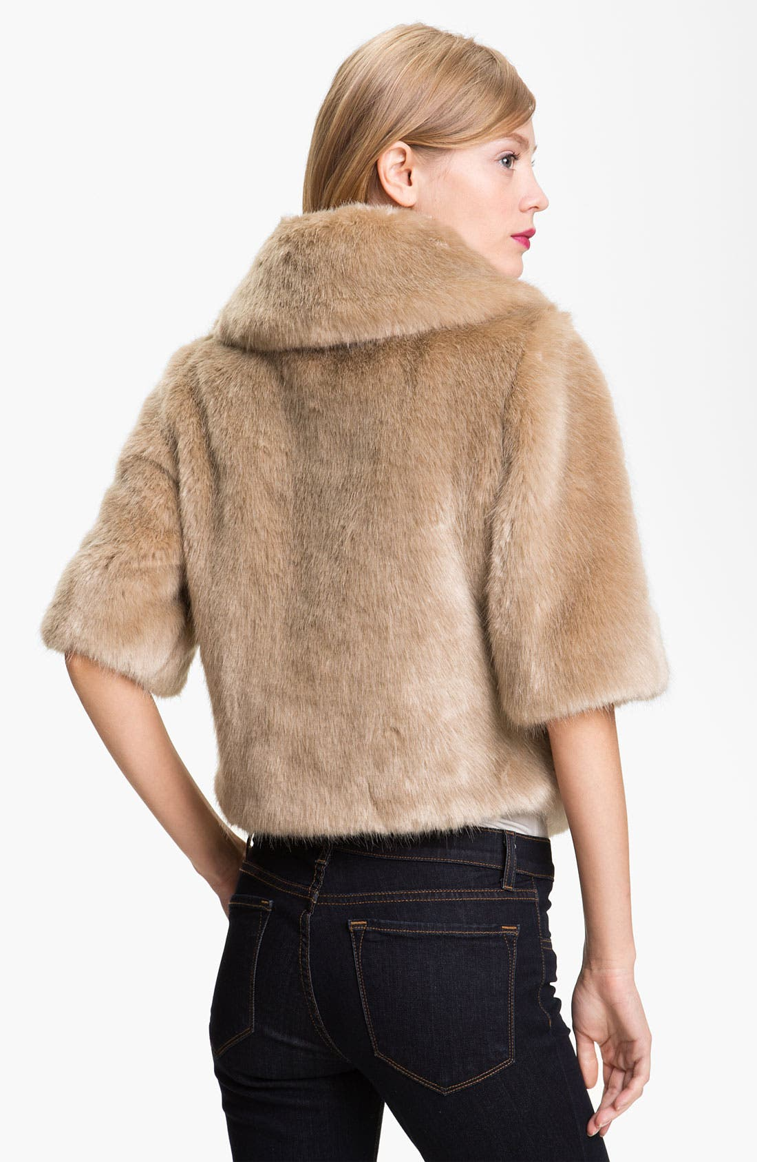 Alternate Image 2  - Ted Baker London Crop Faux Fur Jacket