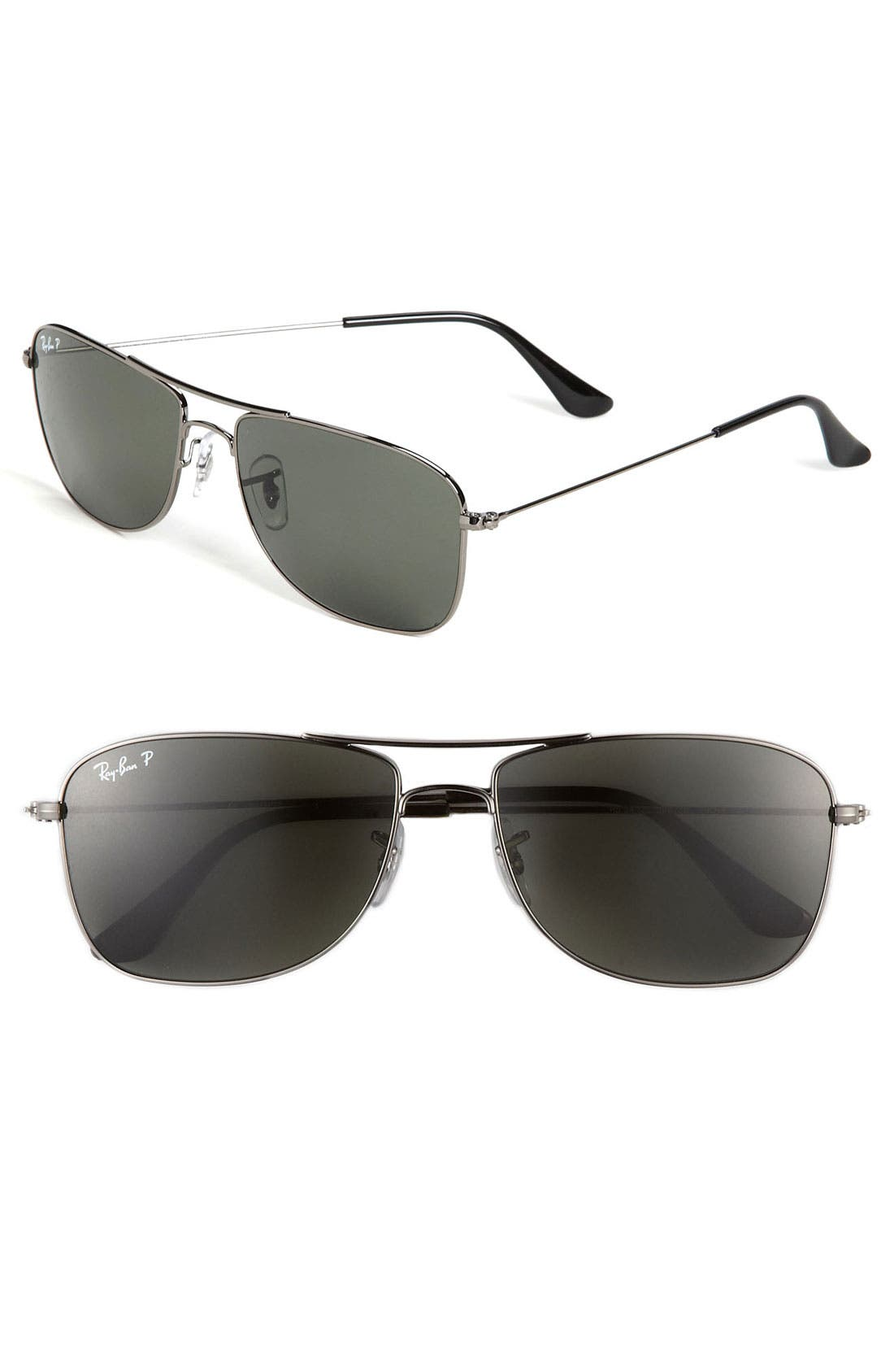 Alternate Image 1 Selected - Ray-Ban 'M Mod Caravan' 59mm Polarized Aviator Sunglasses