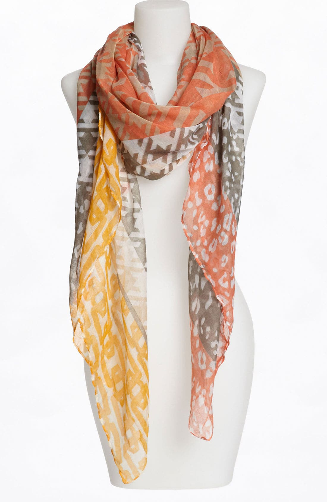 Alternate Image 1 Selected - Lulu Multi Print Sheer Scarf