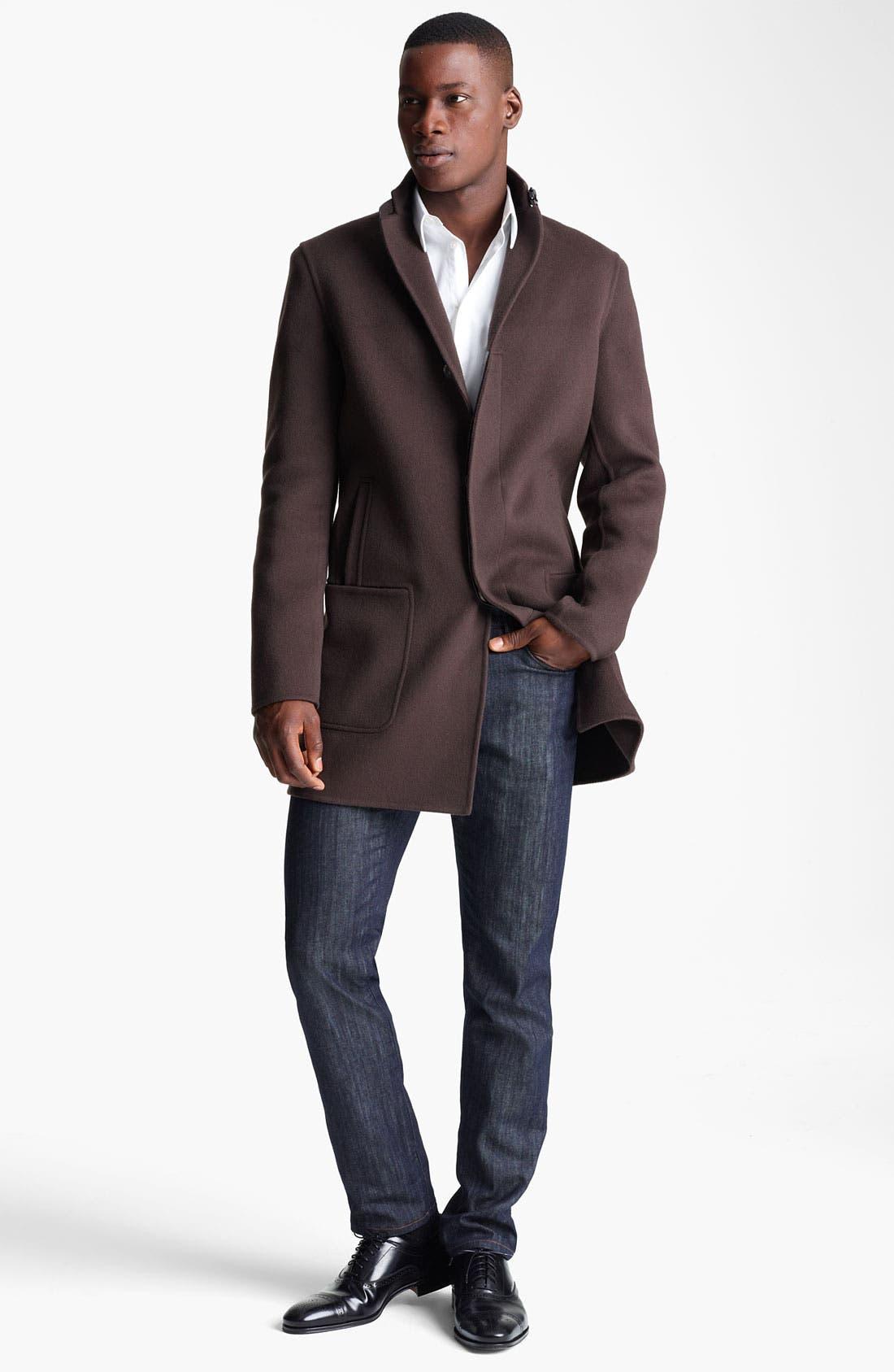 Alternate Image 4  - Salvatore Ferragamo 'Capotto Sportivo' Wool Coat