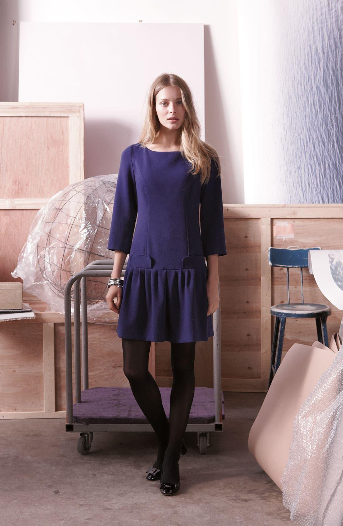 Alternate Image 3  - Eliza J Seam Detail Drop Waist Dress