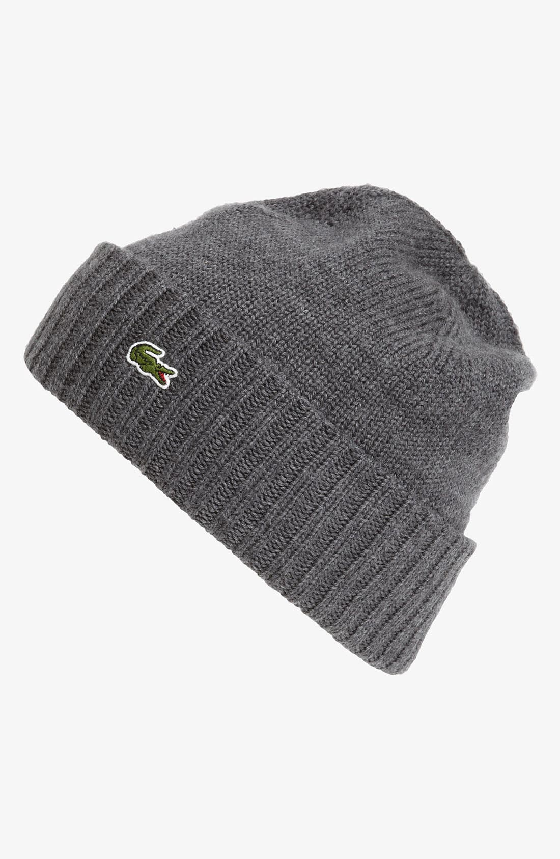 Alternate Image 1 Selected - Lacoste Wool Knit Cap