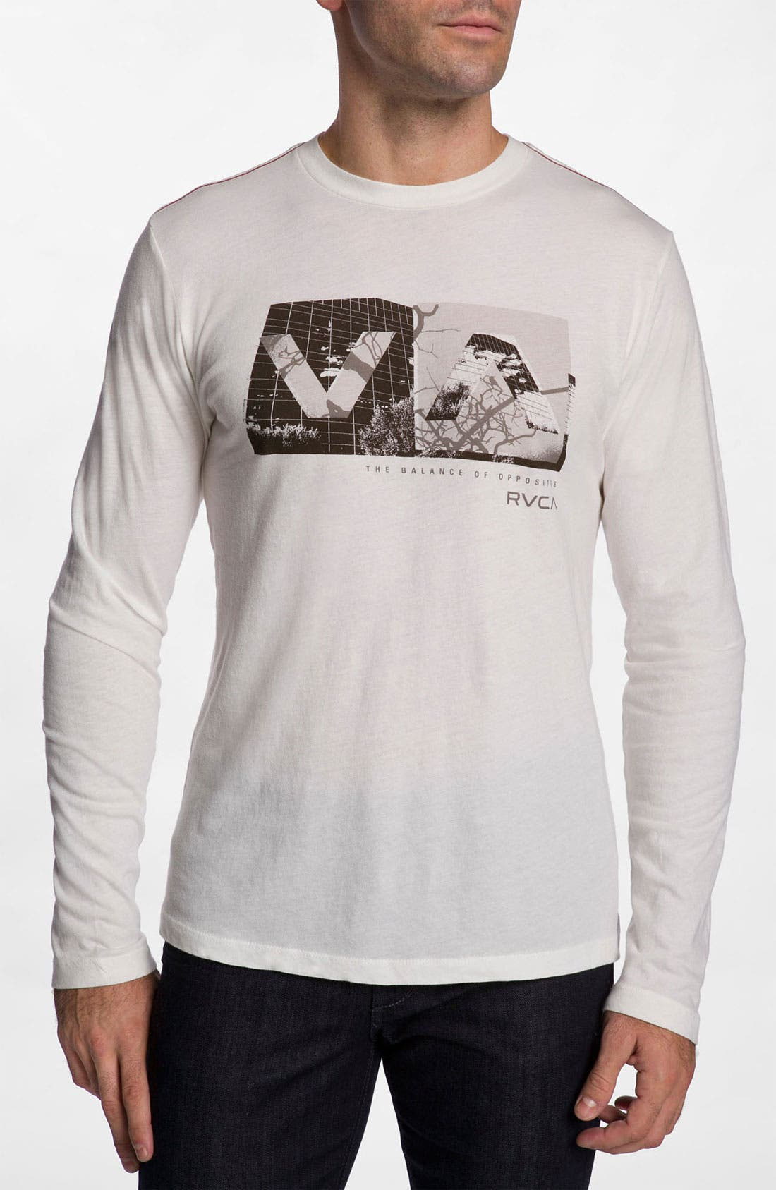 Alternate Image 1 Selected - RVCA 'Branch Box' Graphic Crewneck T-Shirt