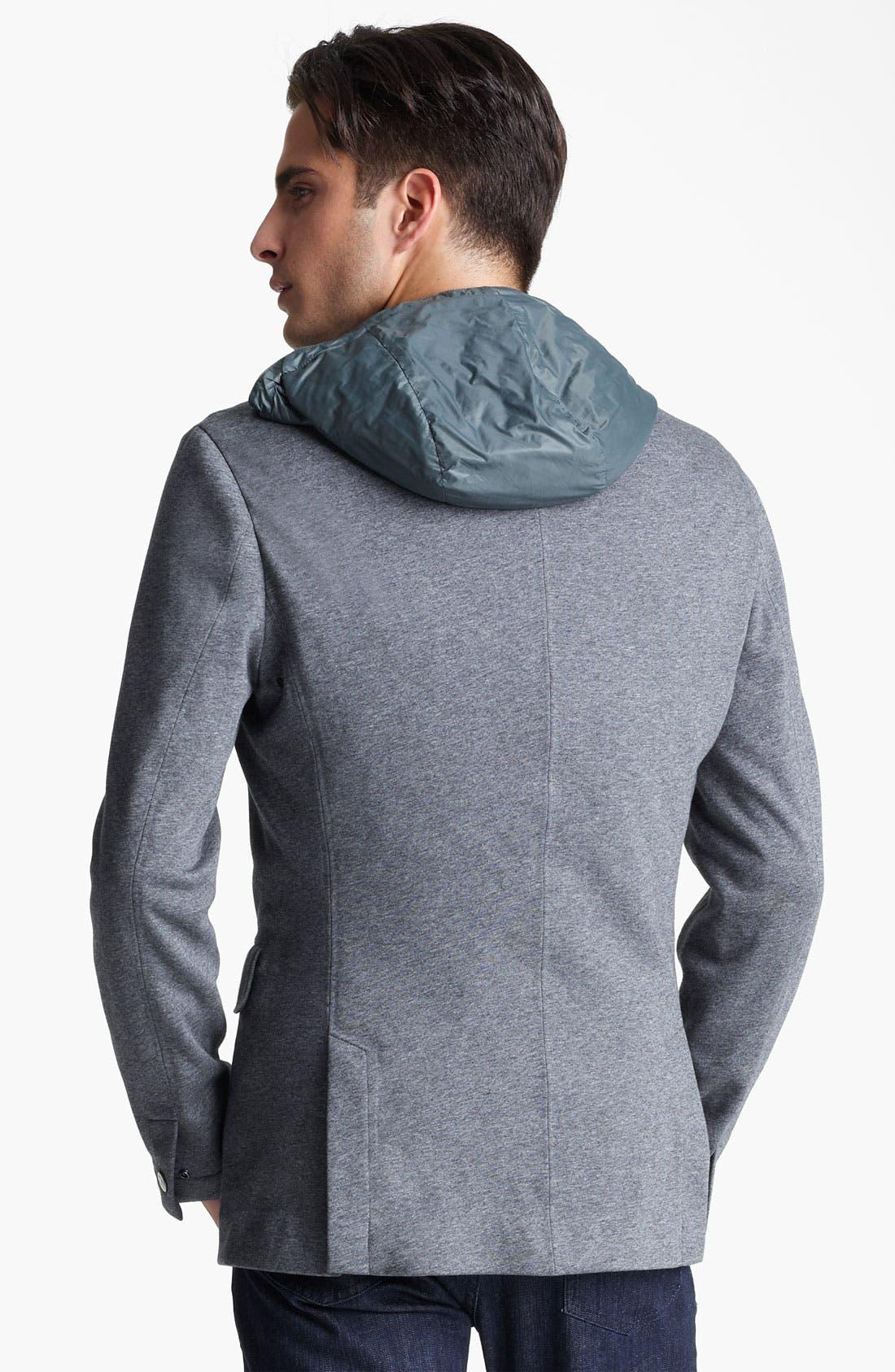 Alternate Image 2  - Zegna Sport COOLMAX® Hooded Blazer
