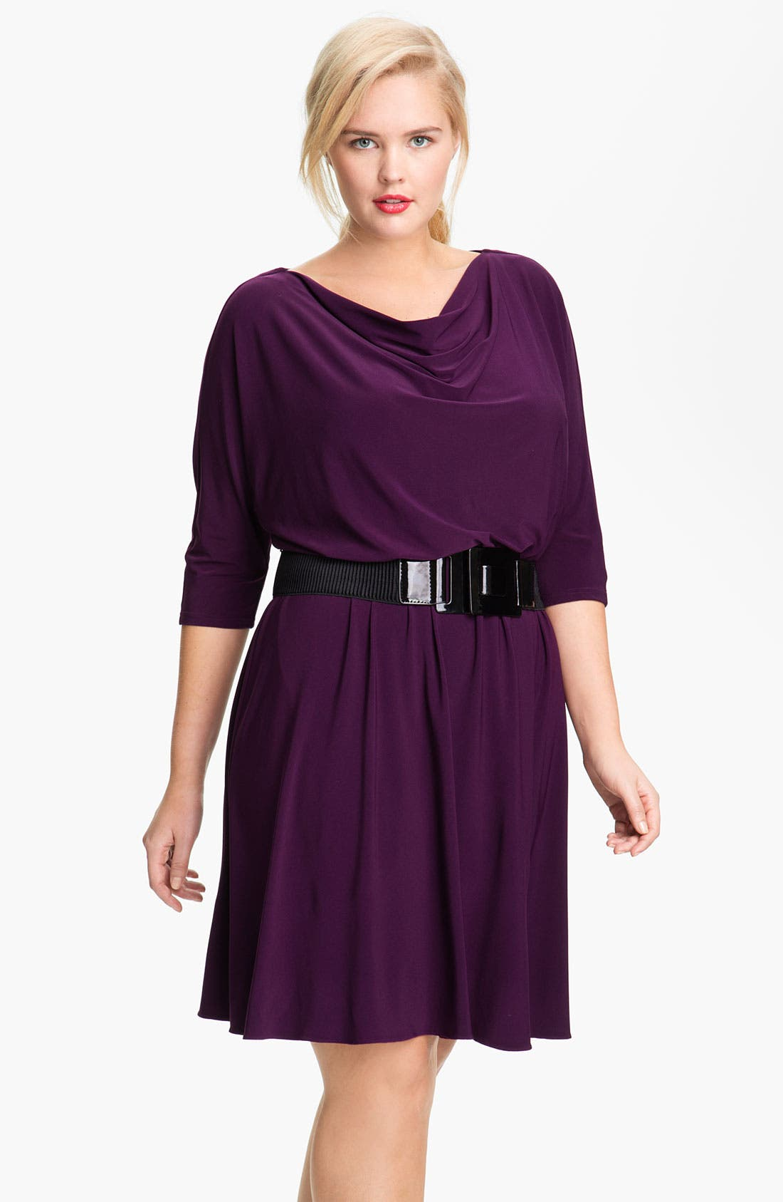 Alternate Image 1 Selected - Adrianna Papell Dolman Sleeve Flare Dress (Plus)