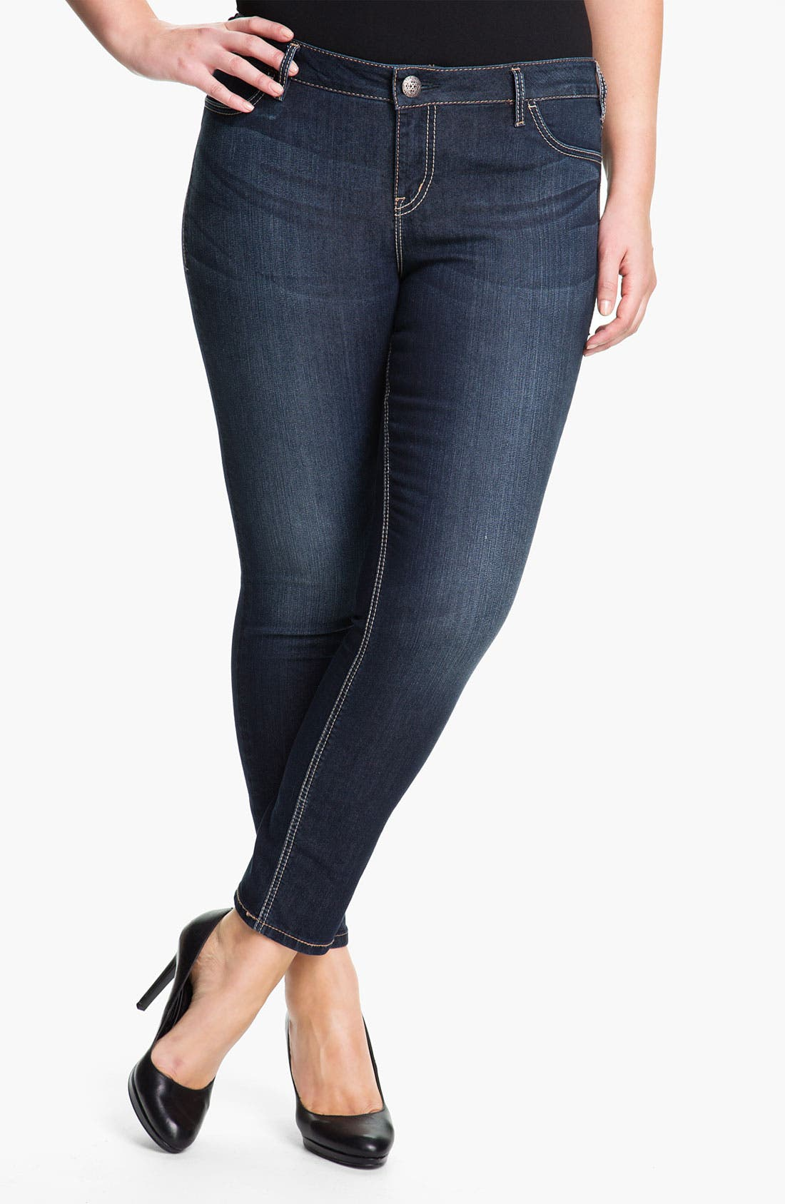 Alternate Image 1 Selected - Silver Jeans Co. 'Suki' Stretch Denim Leggings (Plus)