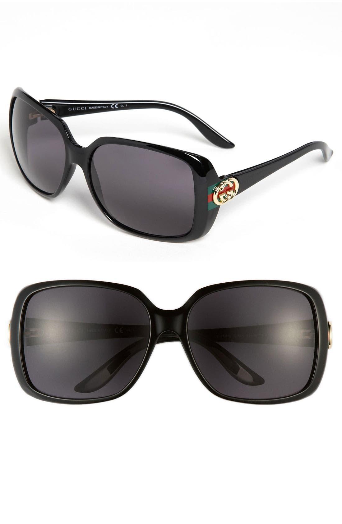 Alternate Image 1 Selected - Gucci 59mm Polarized Sunglasses