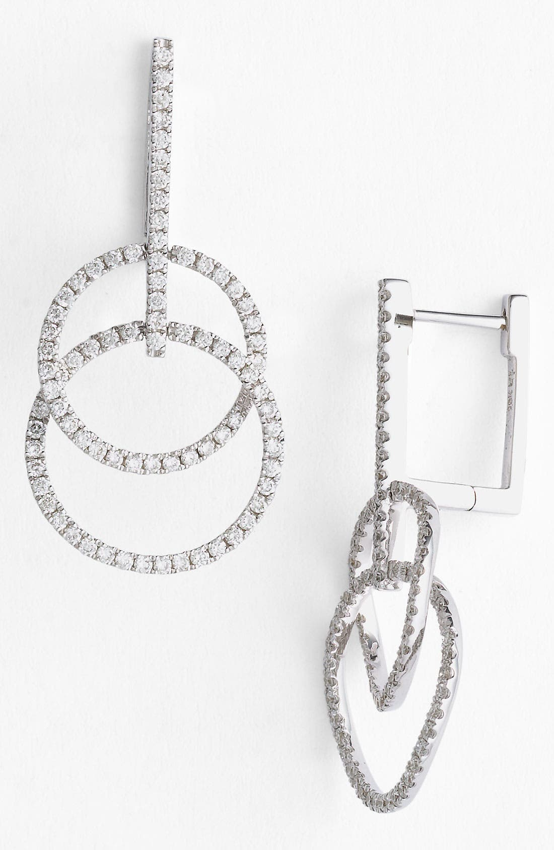 Main Image - Bony Levy 'Circle Links' Diamond Earrings (Nordstrom Exclusive)