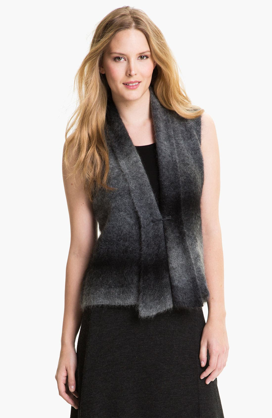 Alternate Image 1 Selected - Eileen Fisher Ombré Mohair Blend Vest