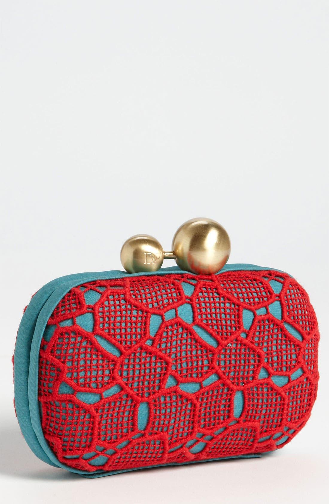 Main Image - Diane von Furstenberg 'Sphere' Lace Clutch