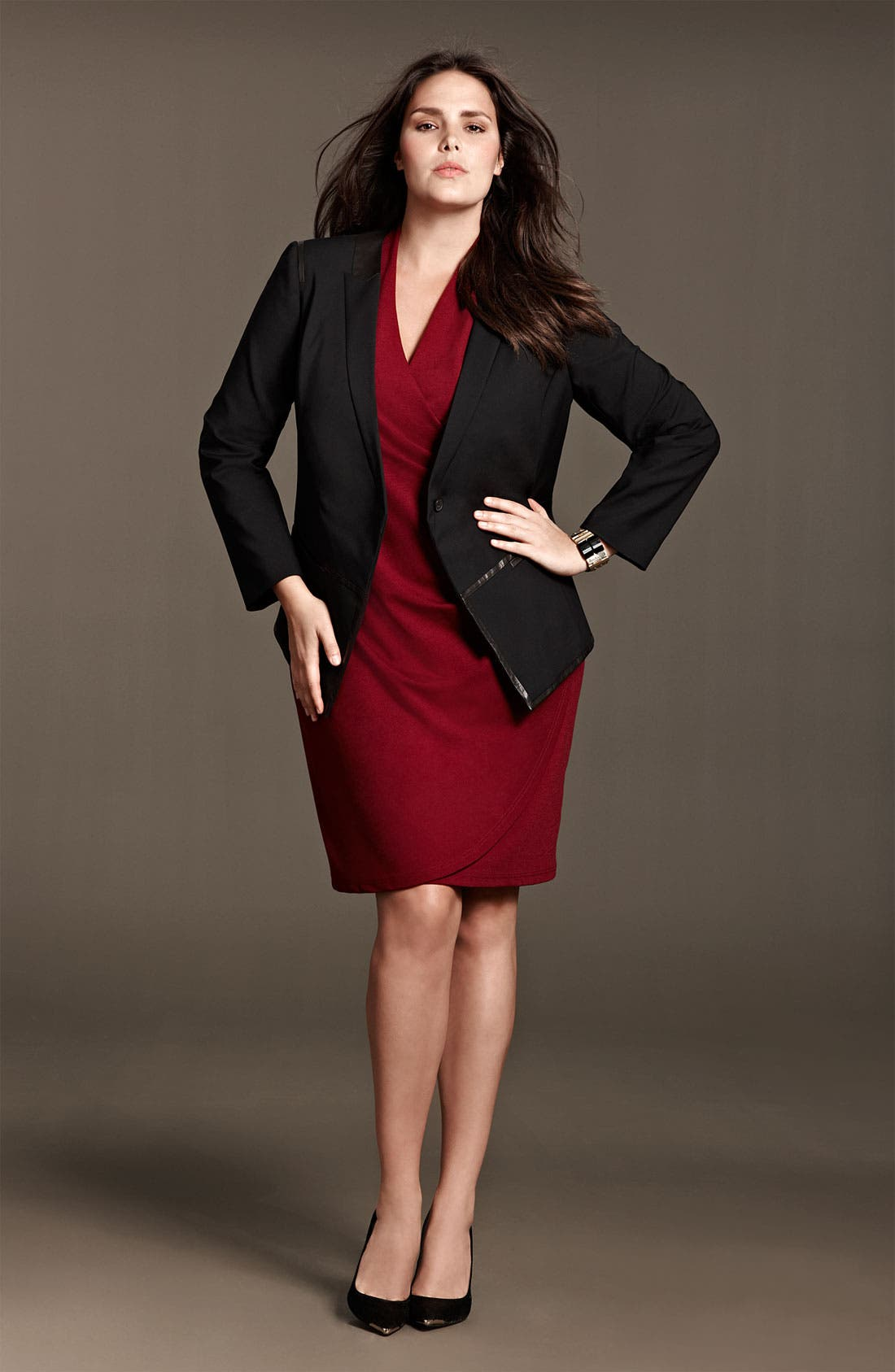 Alternate Image 4  - Kenneth Cole New York 'Lindsey' Sleeveless Ponte Knit Sheath Dress (Plus)
