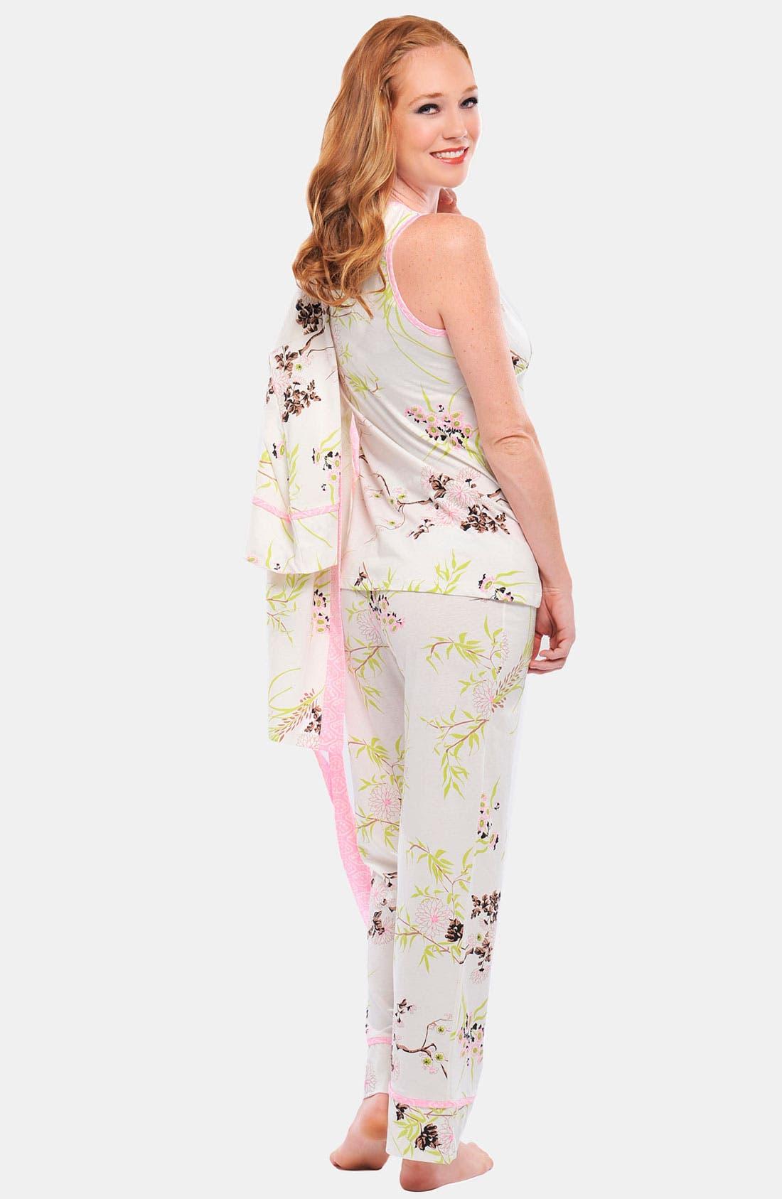 Alternate Image 3  - Olian 'Anne' 4-Piece Maternity Sleepwear Gift Set
