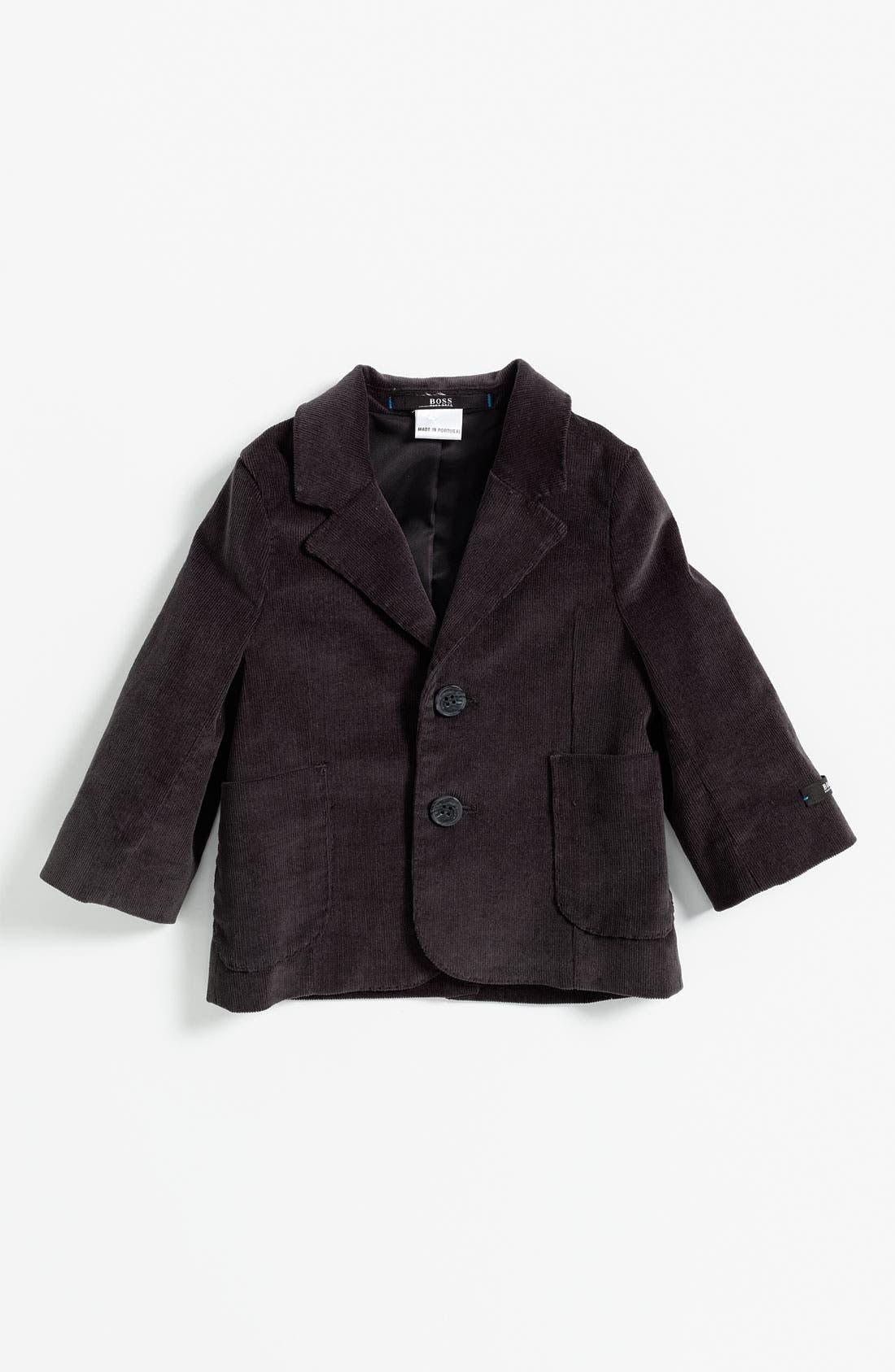 Alternate Image 1 Selected - BOSS Kidswear Velvet Jacket (Infant)