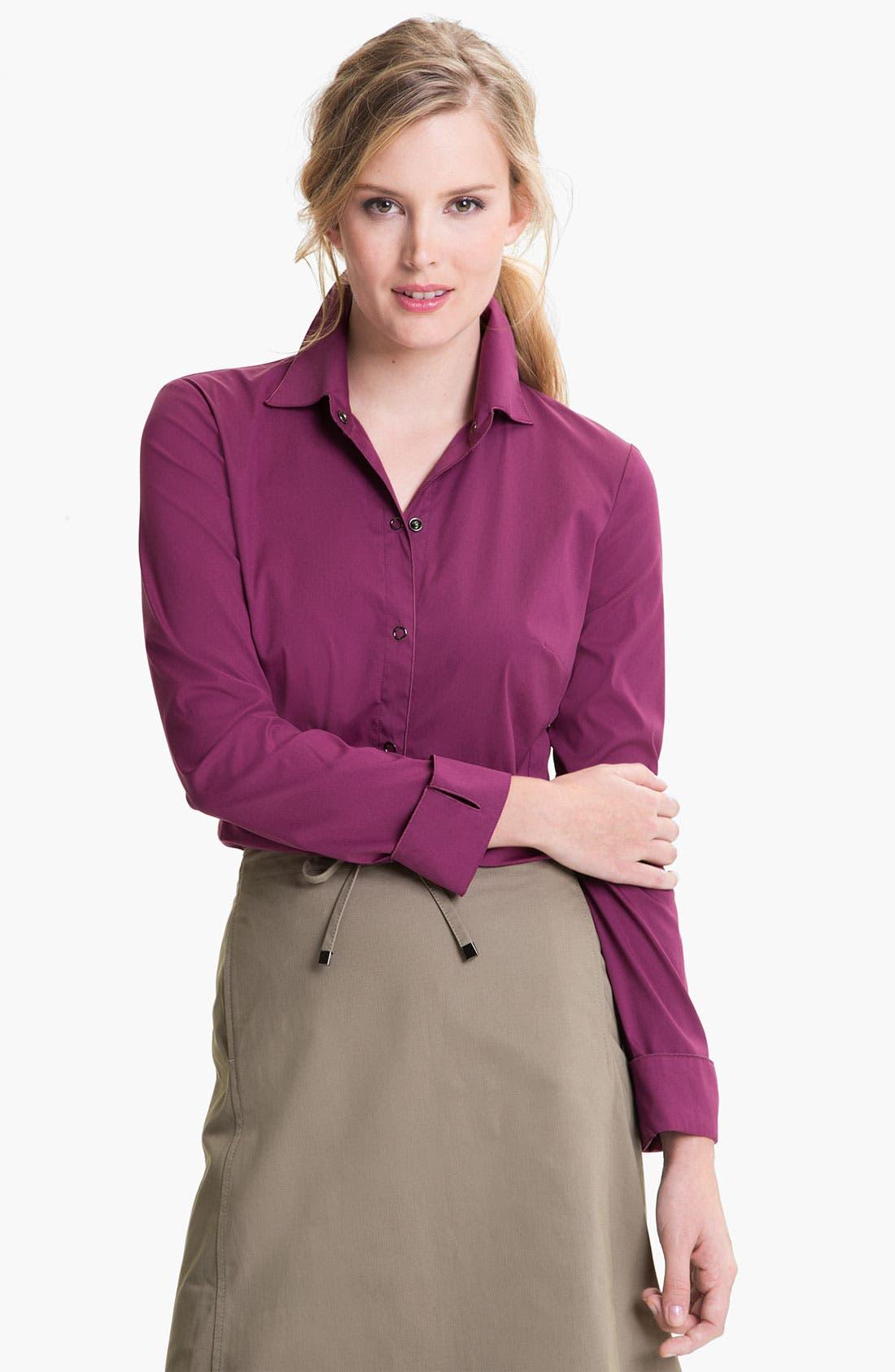 Main Image - Lafayette 148 New York 'Excursion Stretch' Shirt