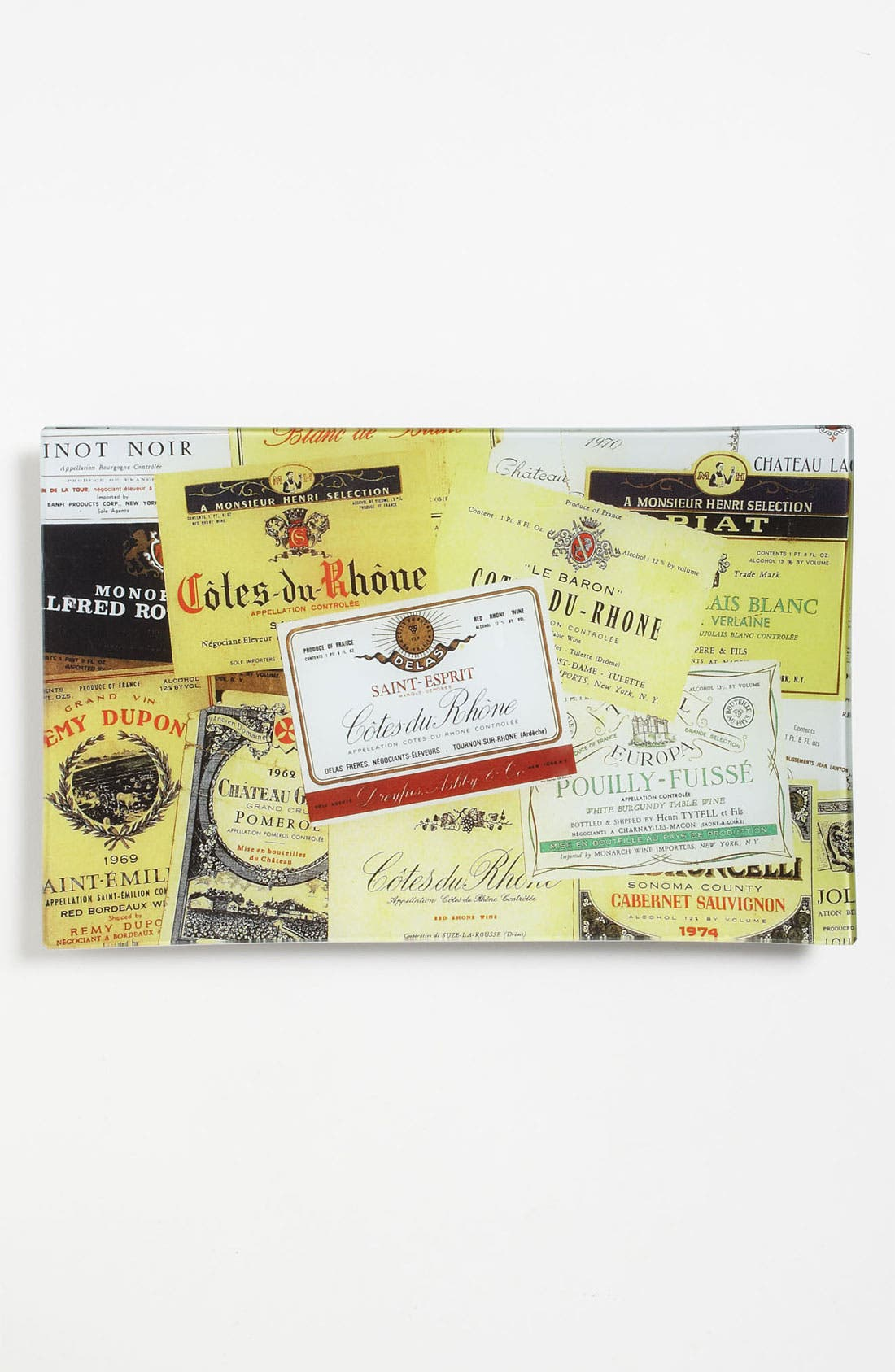 Alternate Image 1 Selected - Ben's Garden 'Vintage Wine Labels' Decorative Glass Tray