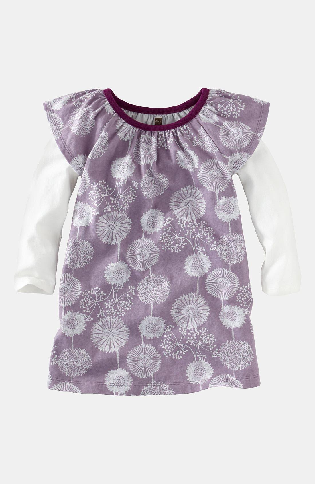 Main Image - Tea Collection 'Svenska Wildflower' Layered Sleeve Dress (Toddler)