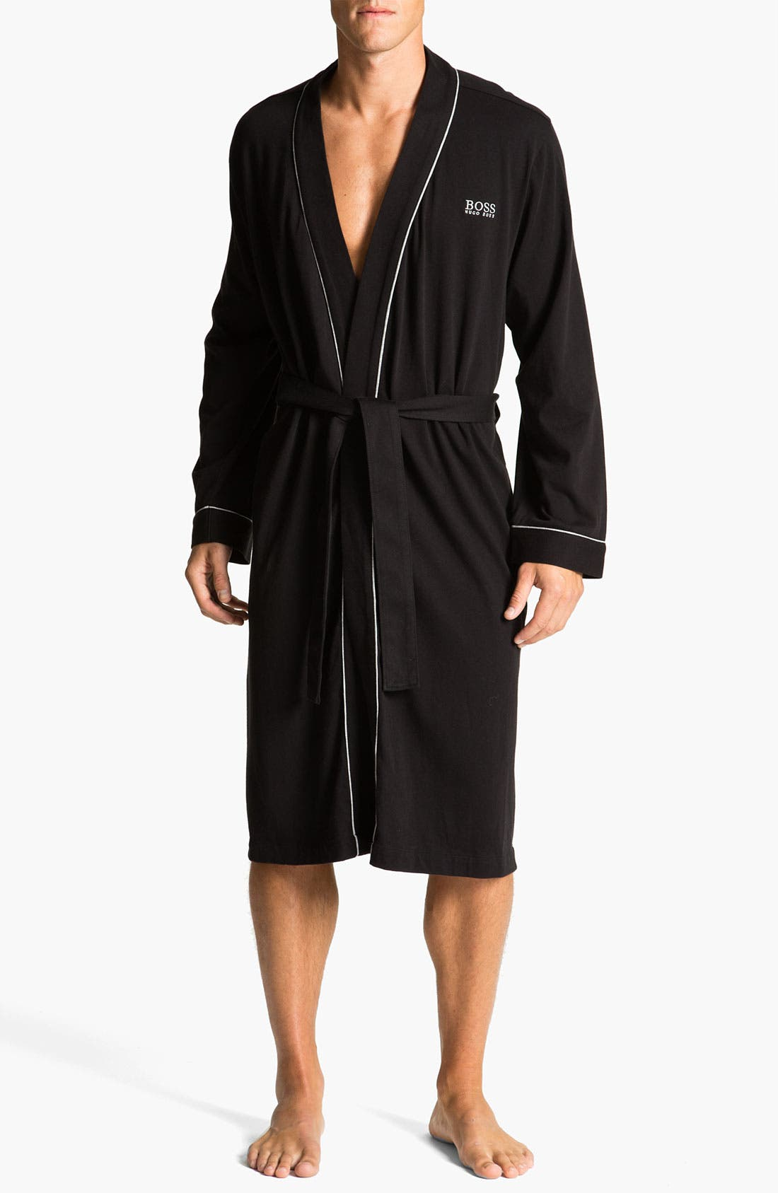 Alternate Image 1 Selected - BOSS Black Cotton Robe