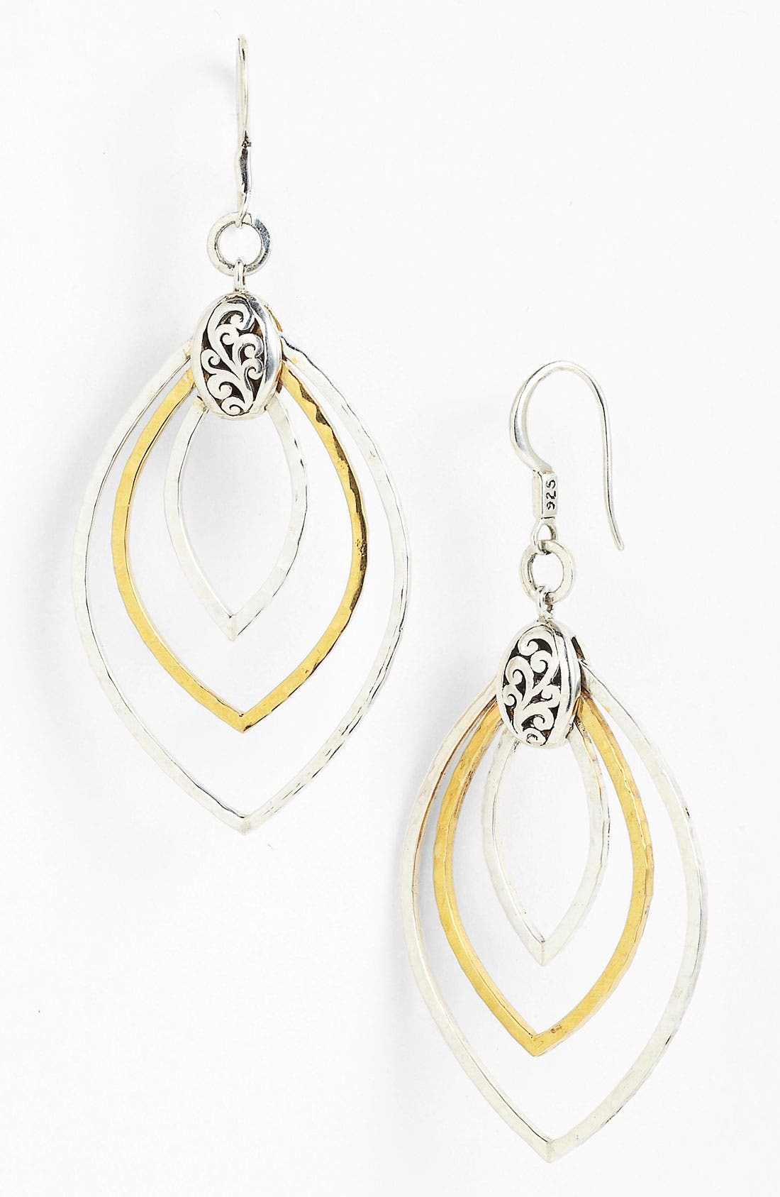 Alternate Image 1 Selected - Lois Hill 'Marquise' Hammered Ring Drop Earrings