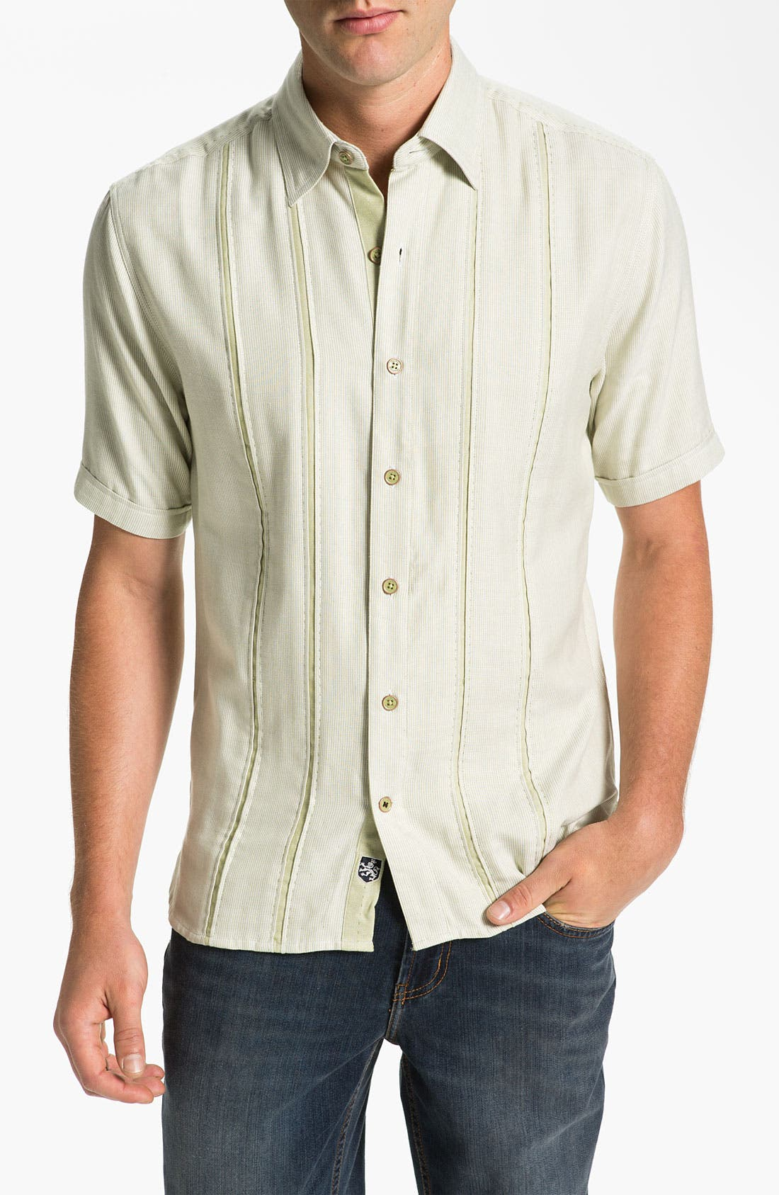 Alternate Image 1 Selected - Nat Nast 'Kingfish' Silk & Cotton Sport Shirt