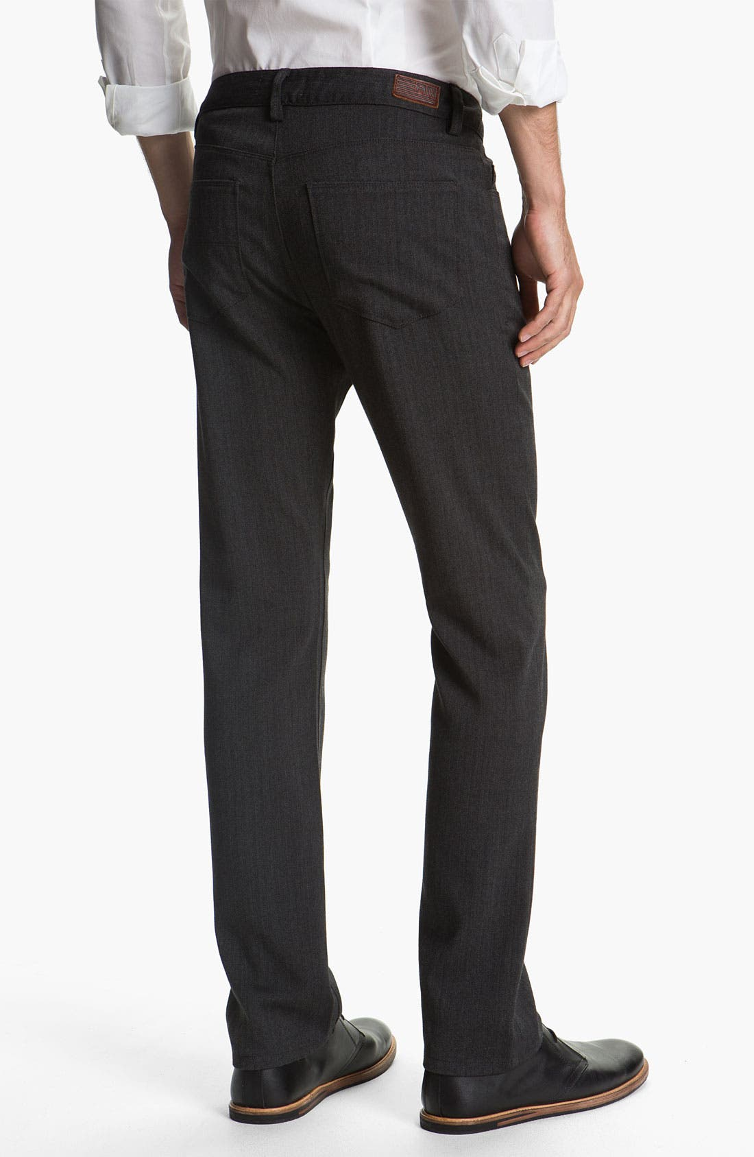 Alternate Image 2  - Alex Maine Flat Front Herringbone Pants