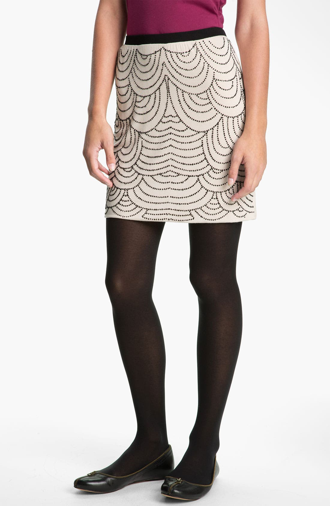 Alternate Image 1 Selected - h.i.p. Beaded Skirt (Juniors)