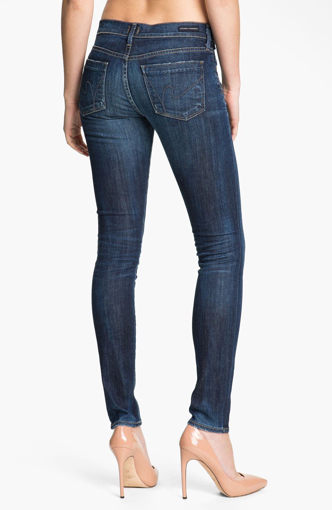 Alternate Image 2  - Citizens of Humanity Skinny Stretch Jeans (Spectrum)
