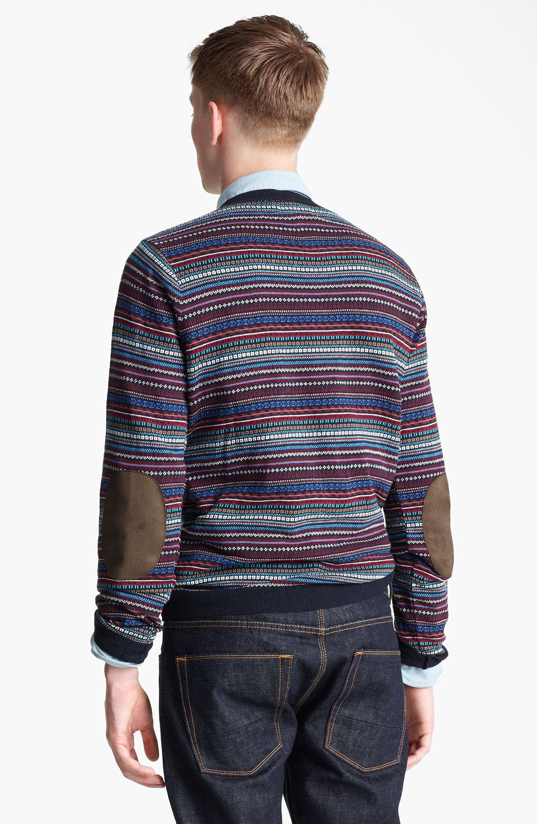 Alternate Image 2  - Topman Pattern Knit Crewneck Sweater