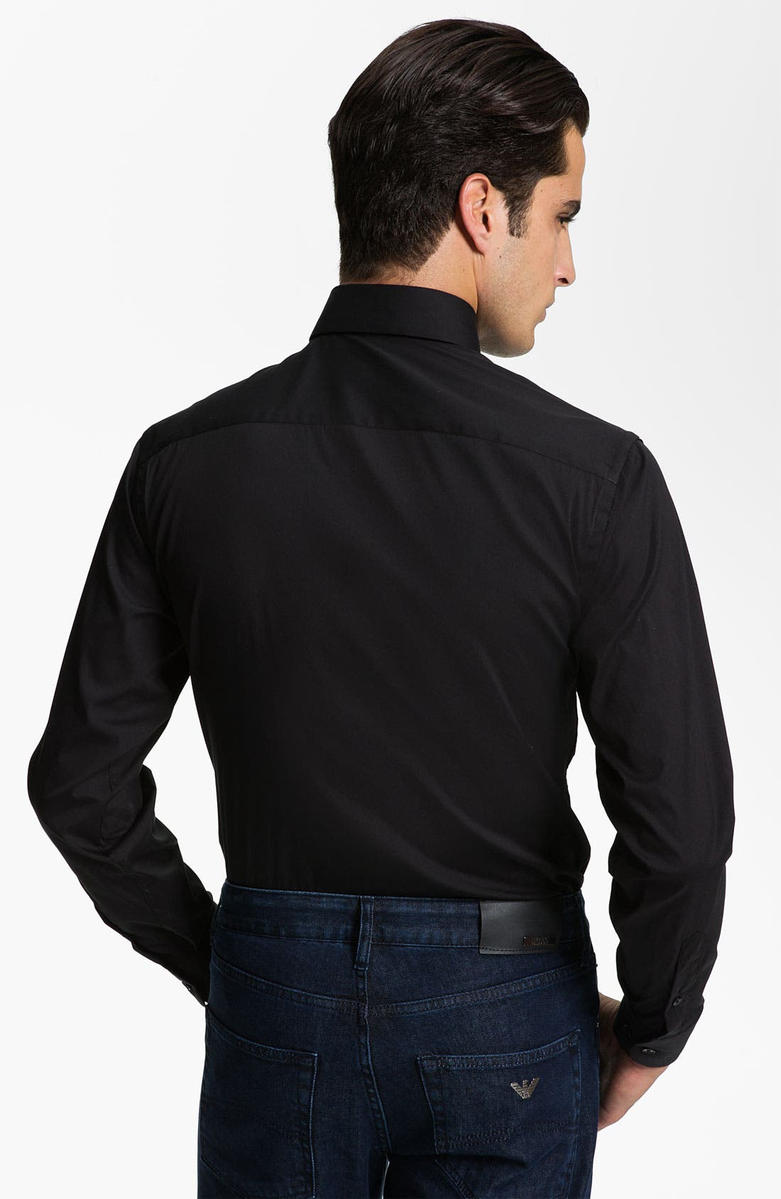 Alternate Image 3  - Armani Collezioni Trim Fit Sport Shirt