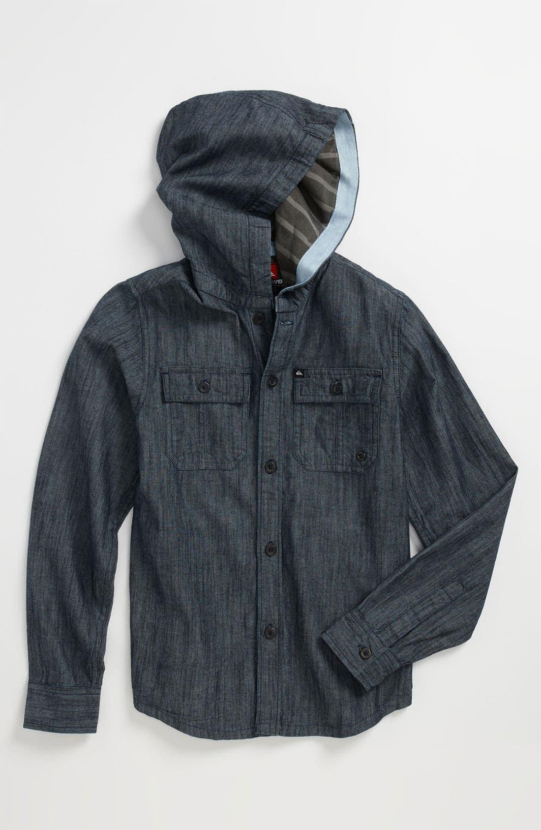 Main Image - Quiksilver 'Morning Stroke' Hooded Shirt (Big Boys)