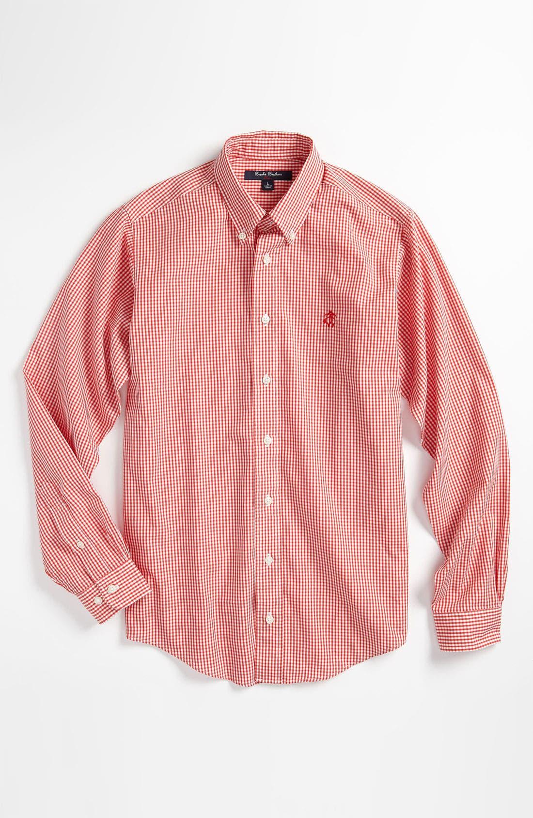 Alternate Image 1 Selected - Brooks Brothers Sport Shirt (Big Boys)