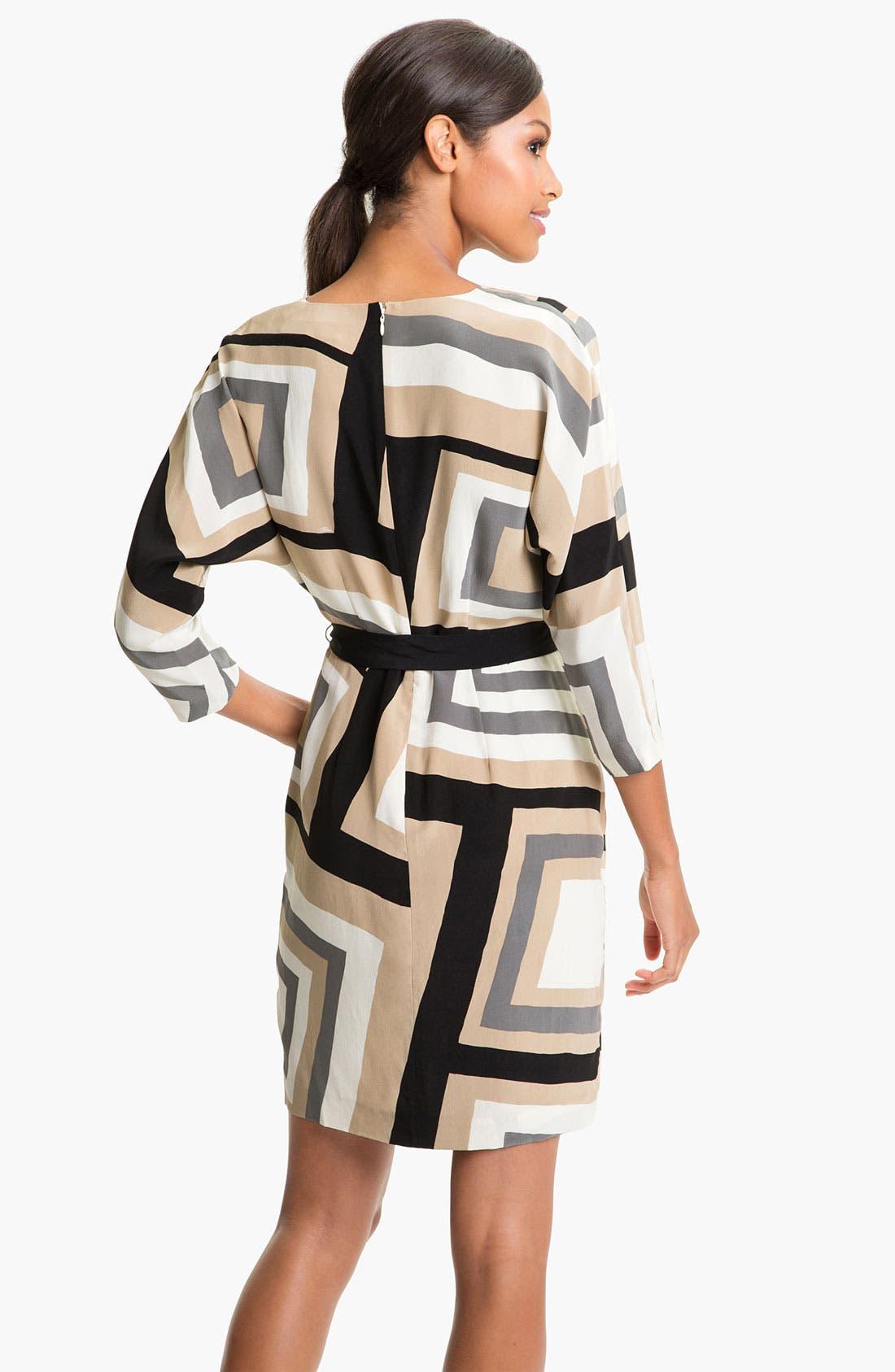 Alternate Image 2  - Trina Turk Print Surplice Silk Dress