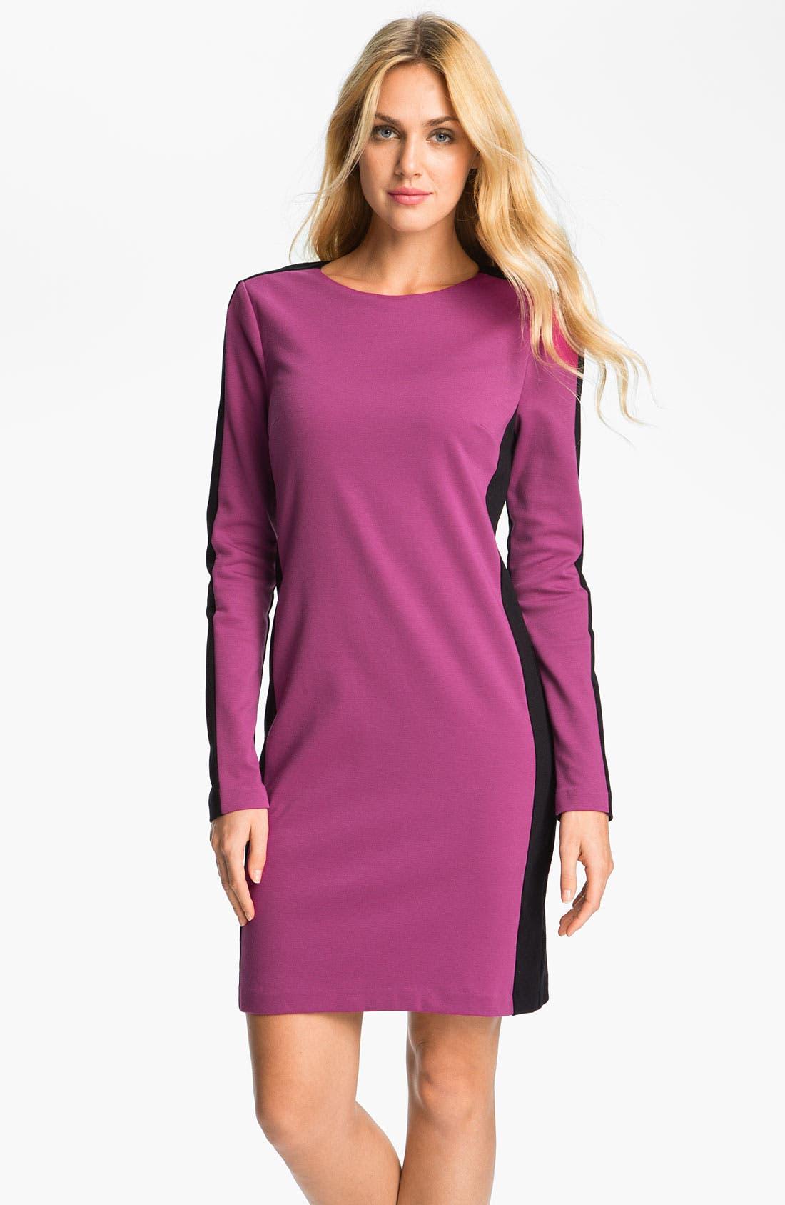Main Image - MICHAEL Michael Kors Colorblock Knit Shift Dress