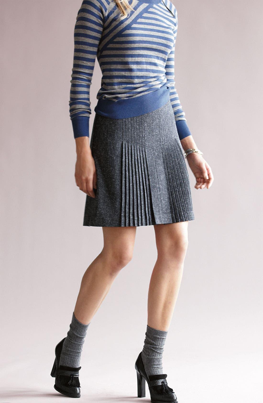 Alternate Image 5  - Halogen® Pleat Front Tweed Skirt