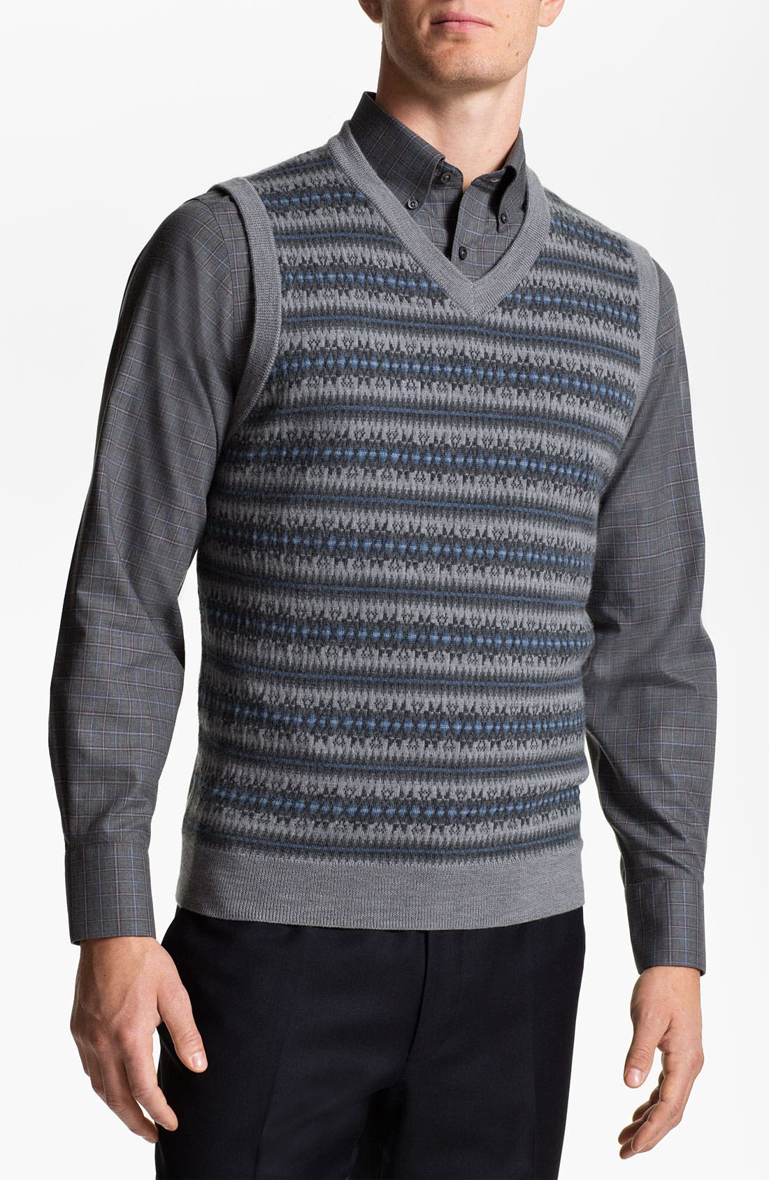 Alternate Image 1 Selected - Nordstrom Fair Isle Merino Wool Sweater Vest