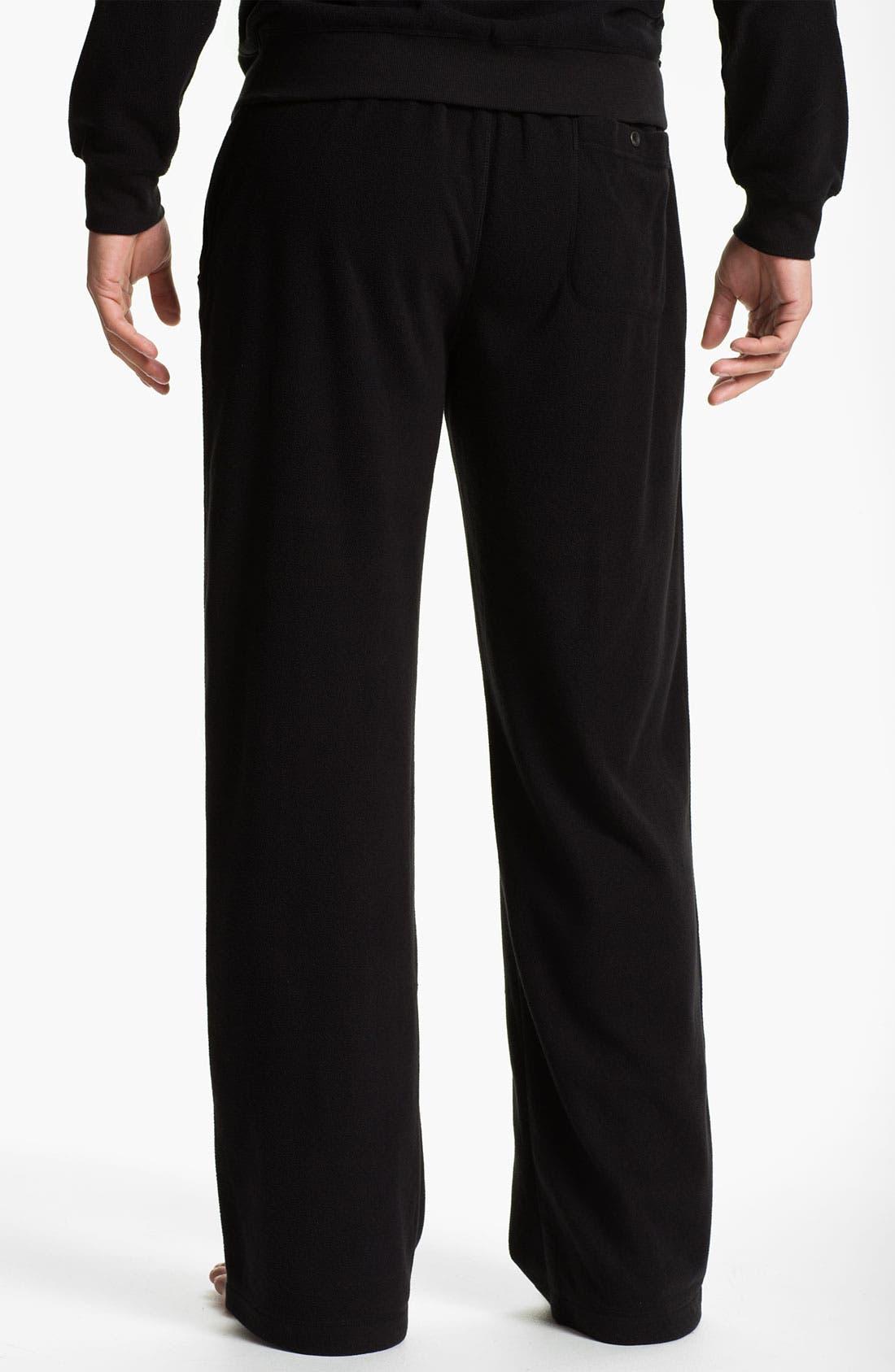 Alternate Image 2  - Daniel Buchler Lightweight Fleece Lounge Pants
