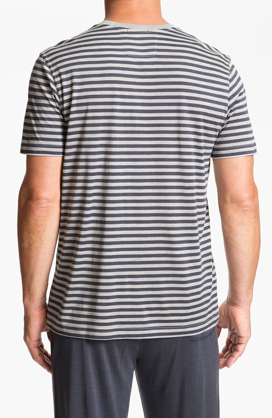 Alternate Image 2  - Daniel Buchler Silk Blend Heathered Stripe T-Shirt