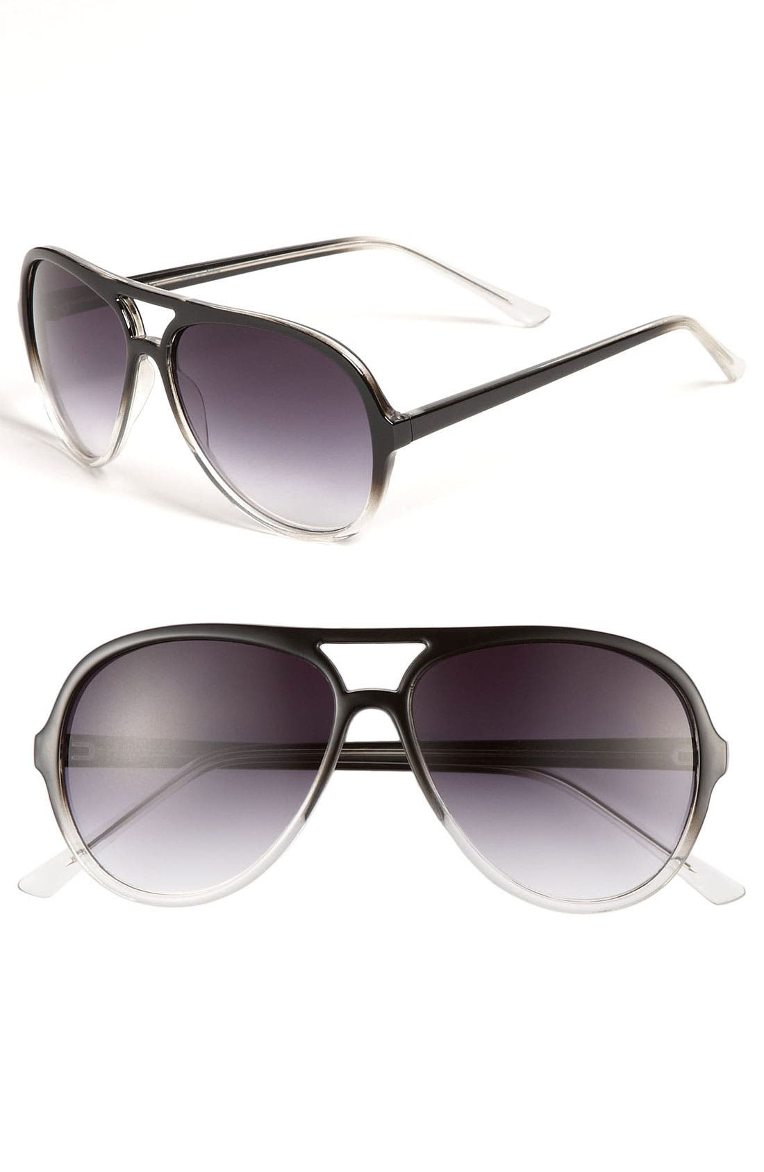 Main Image - Halogen® 63mm Aviator Sunglasses