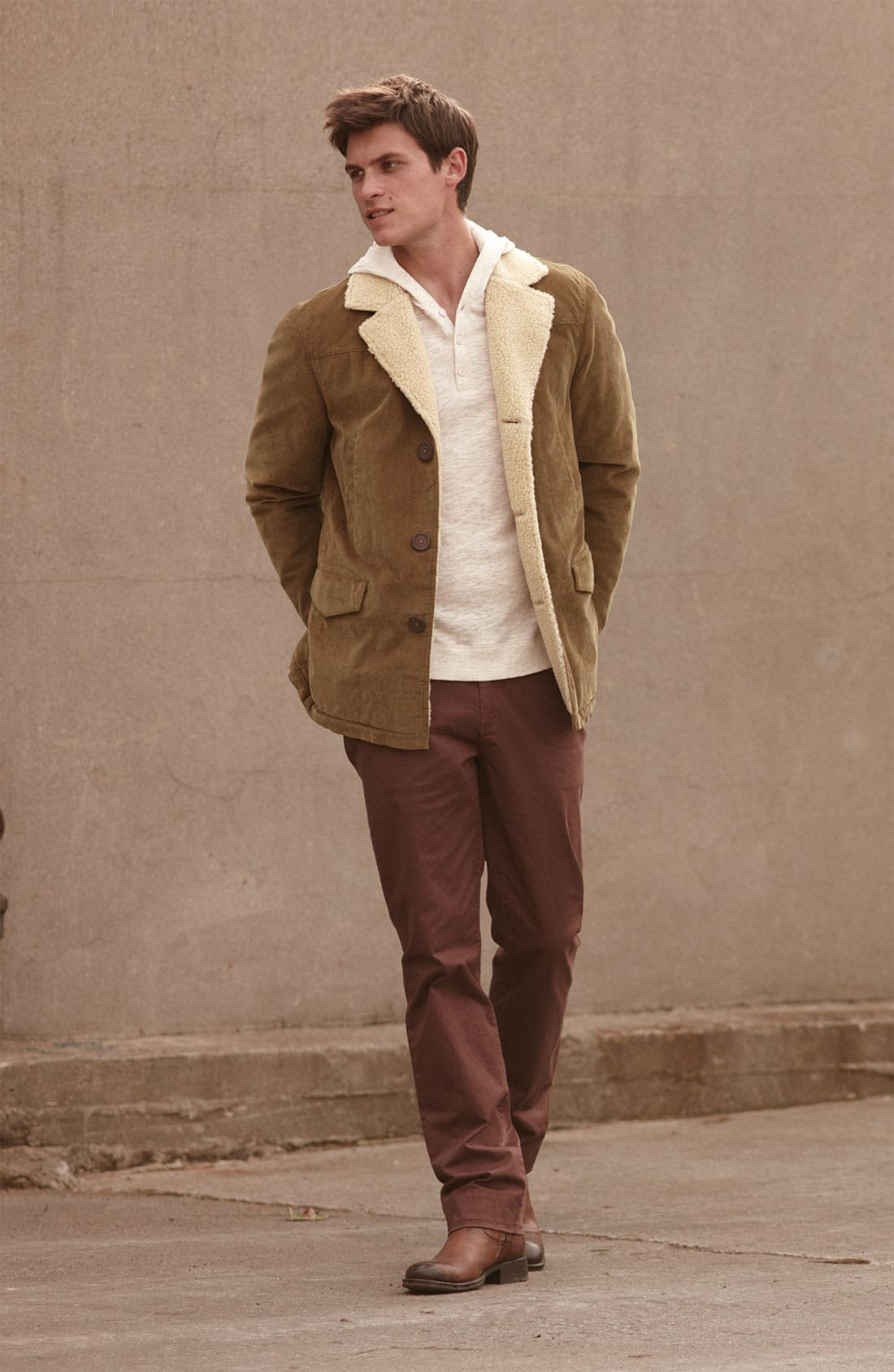Main Image - Vince Jacket, Henley & Paige Slim Straight Leg Pants