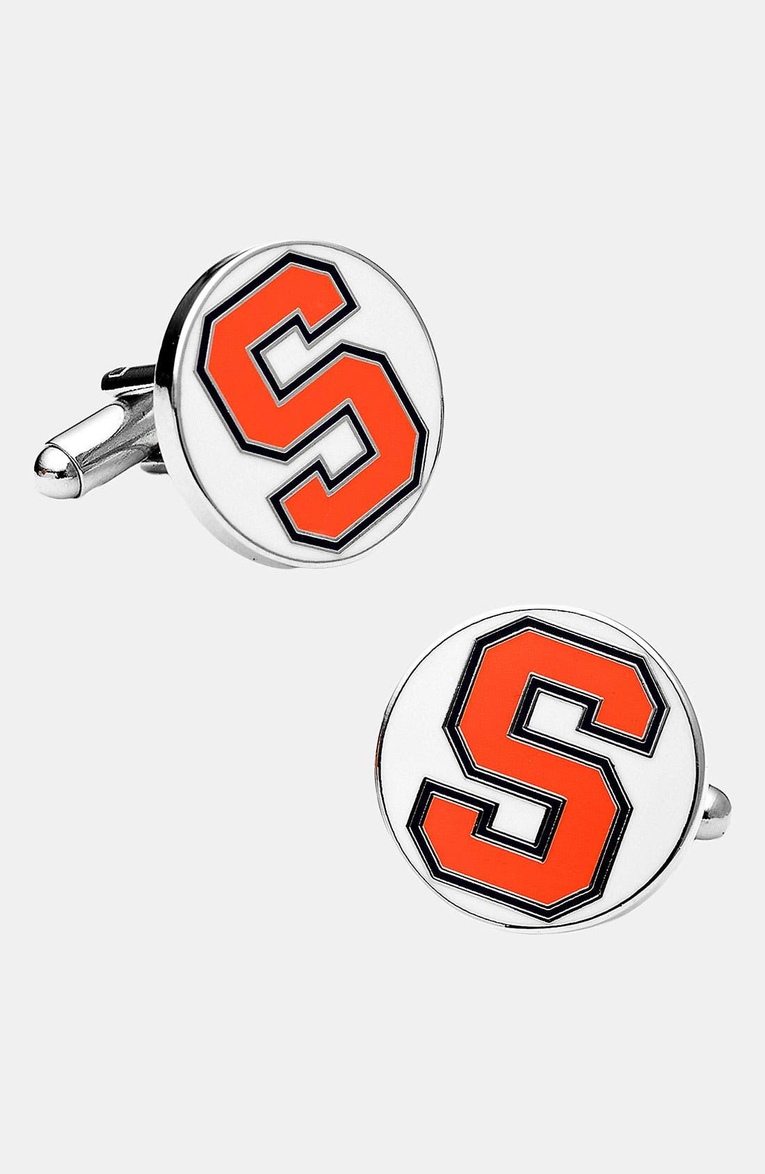 Main Image - Cufflinks, Inc. 'Syracuse University Orange' Cuff Links