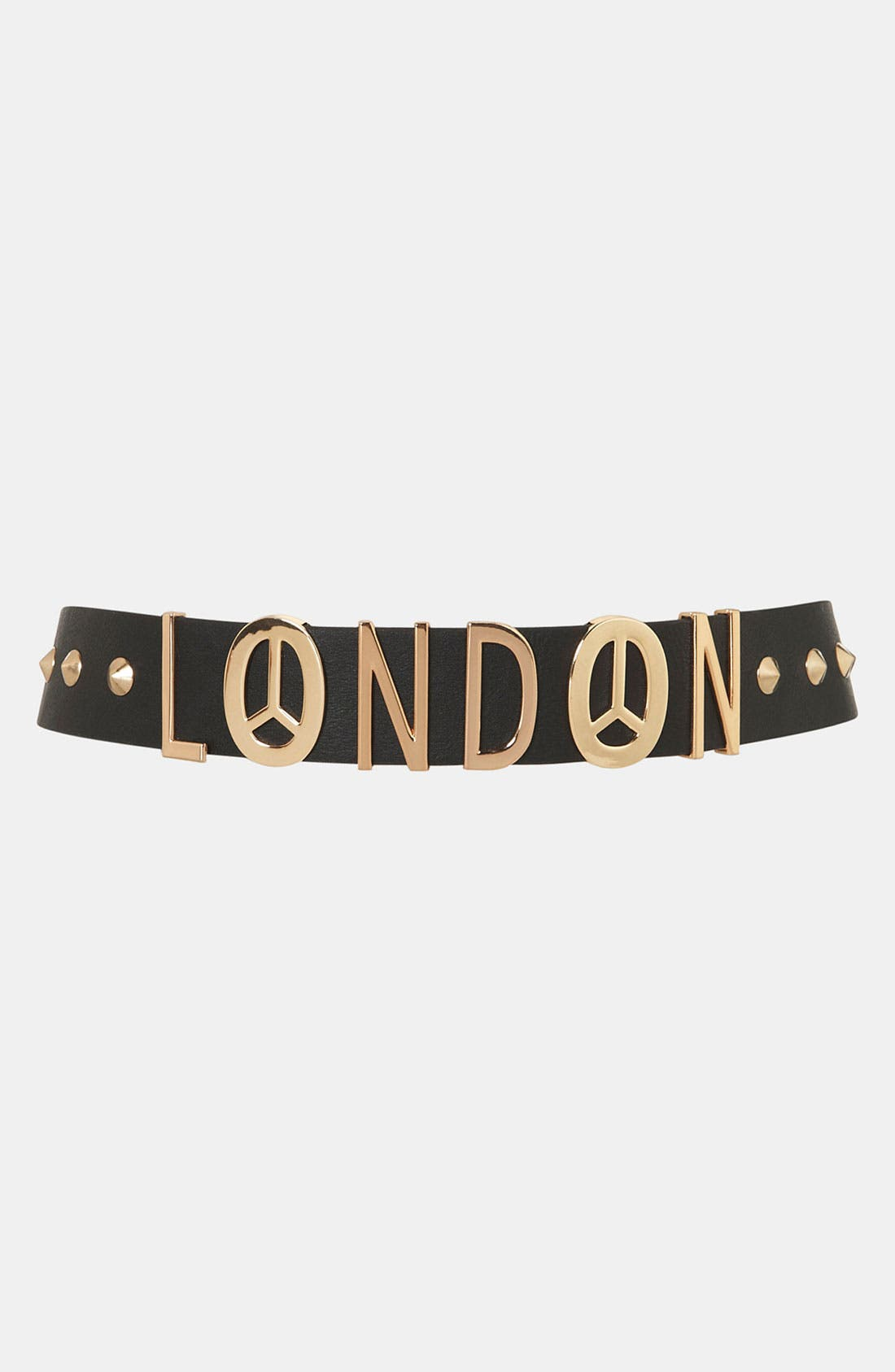 Alternate Image 1 Selected - Topshop 'London Lettered' Belt