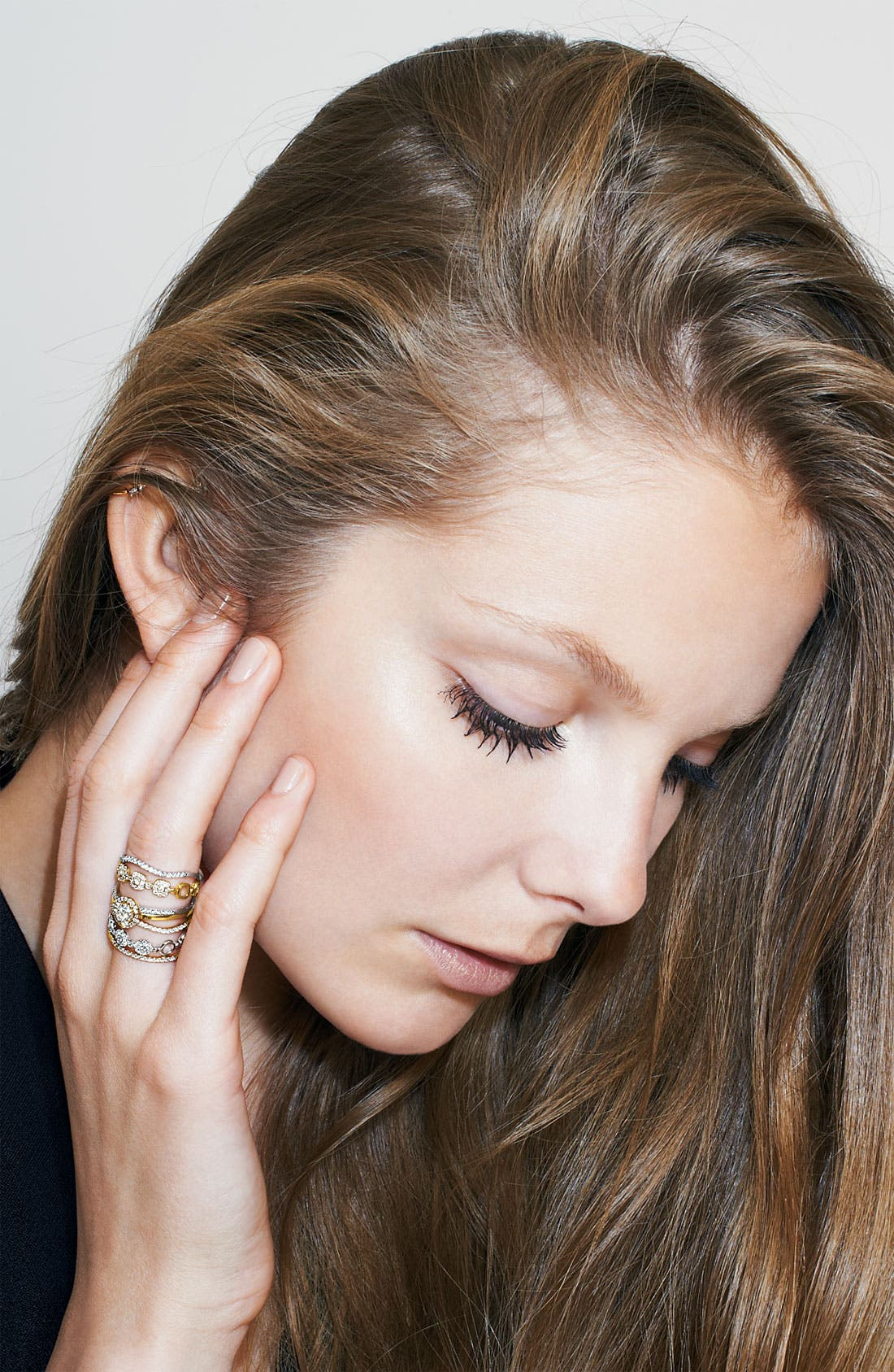 Alternate Image 4  - Bony Levy Adina Stackable Round Diamond Ring (Nordstrom Exclusive)