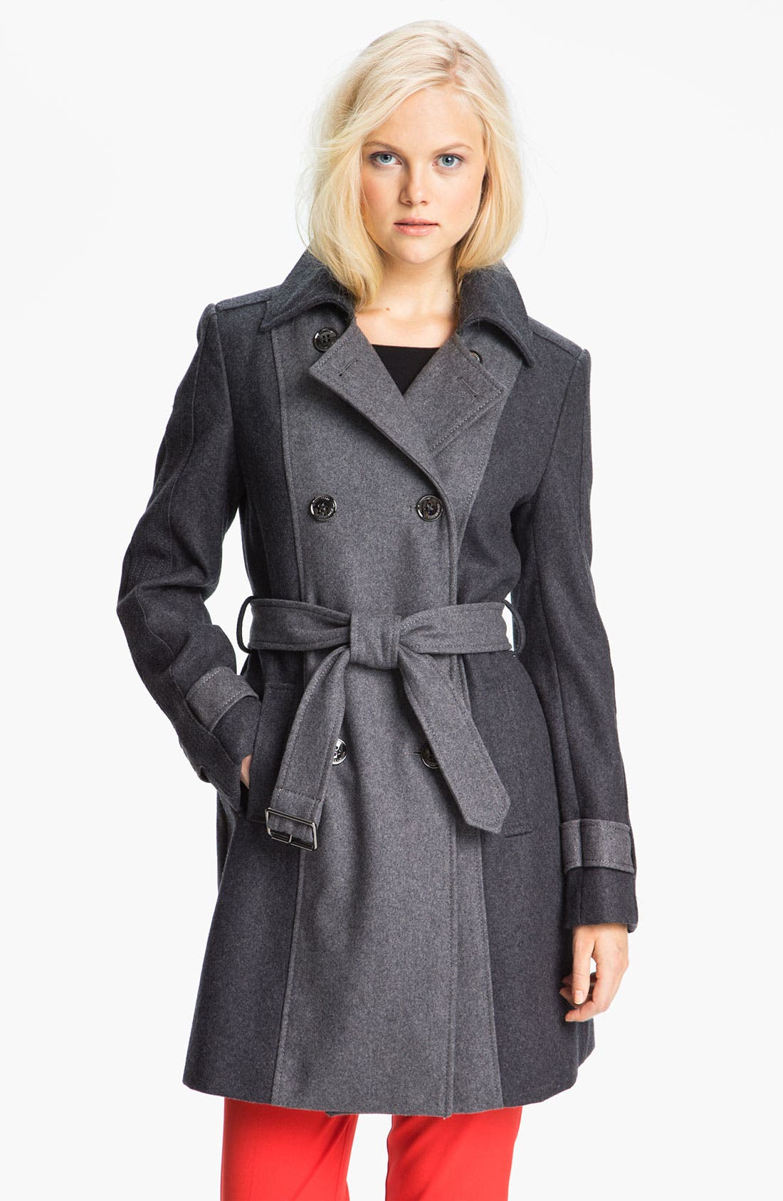 Alternate Image 1 Selected - Kenneth Cole New York Colorblock Trench Coat