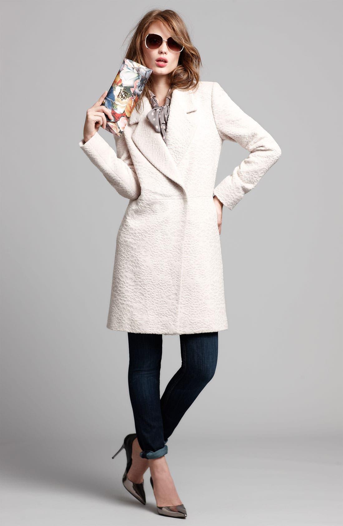 Alternate Image 7  - Tahari 'Robyn' Textured Coat