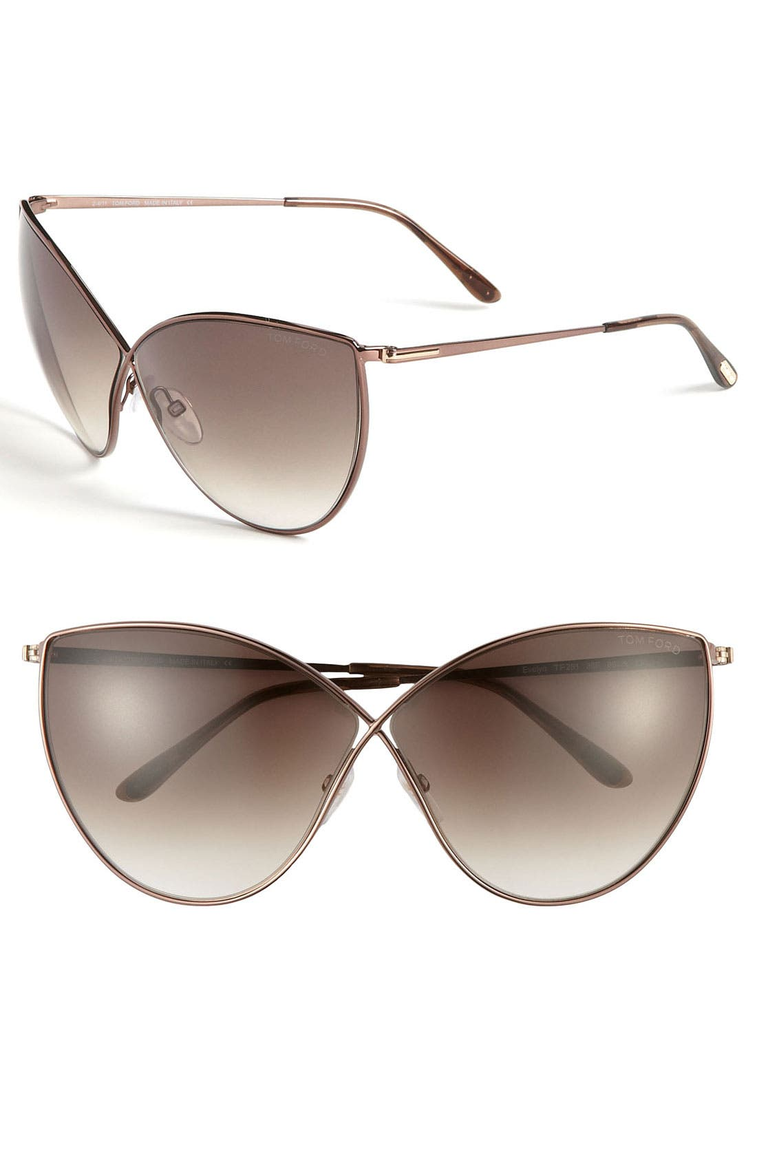 Alternate Image 1 Selected - Tom Ford 'Evelyn' 66mm Sunglasses