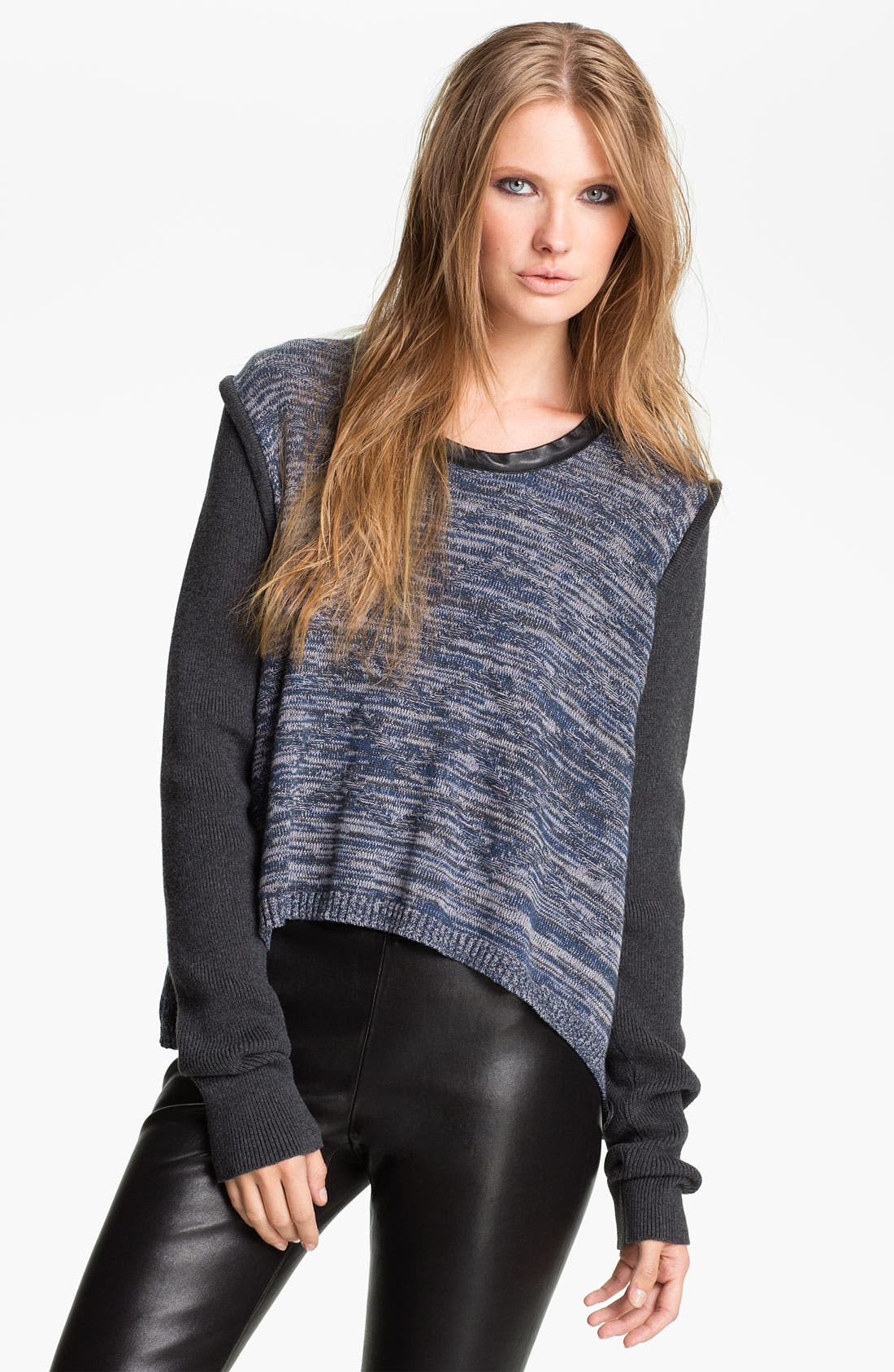 Alternate Image 1 Selected - Cut25 Marled Knit Top