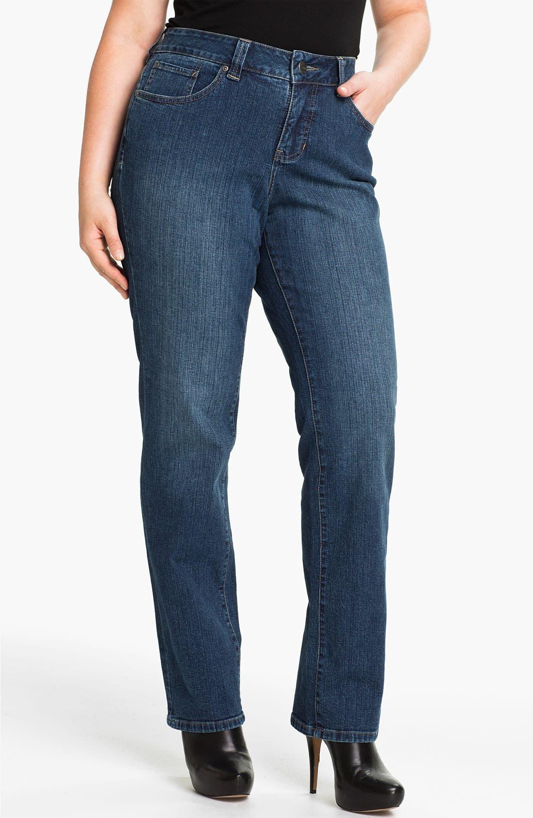 Alternate Image 1 Selected - Jag Jeans 'Madison' Straight Leg Jeans (Plus Size)