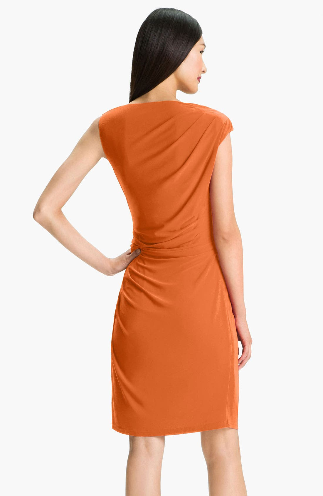 Alternate Image 2  - Adrianna Papell Asymmetrical Draped Jersey Dress