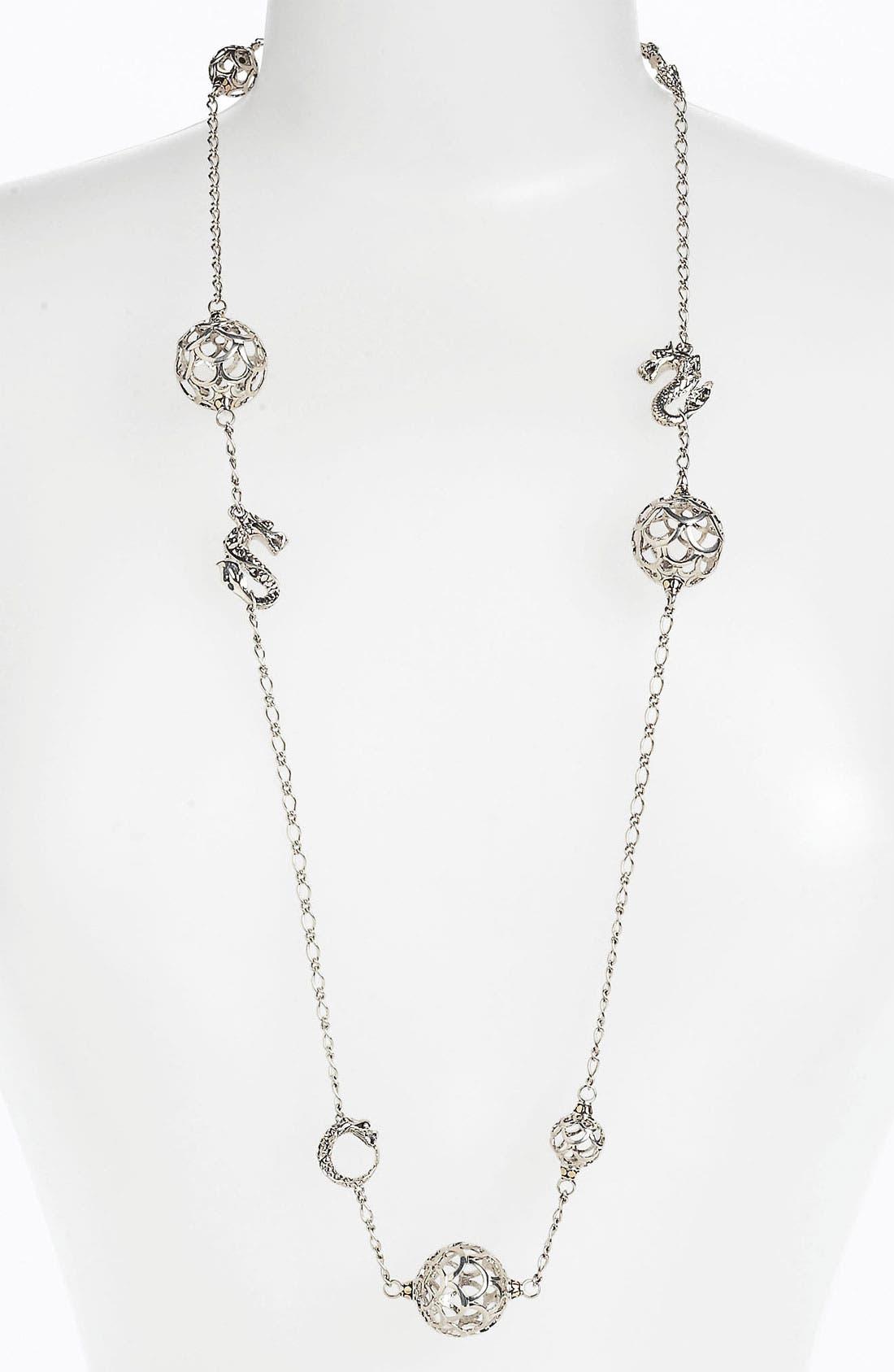 Alternate Image 1 Selected - John Hardy 'Naga Gold & Silver' Long Sautoir Necklace